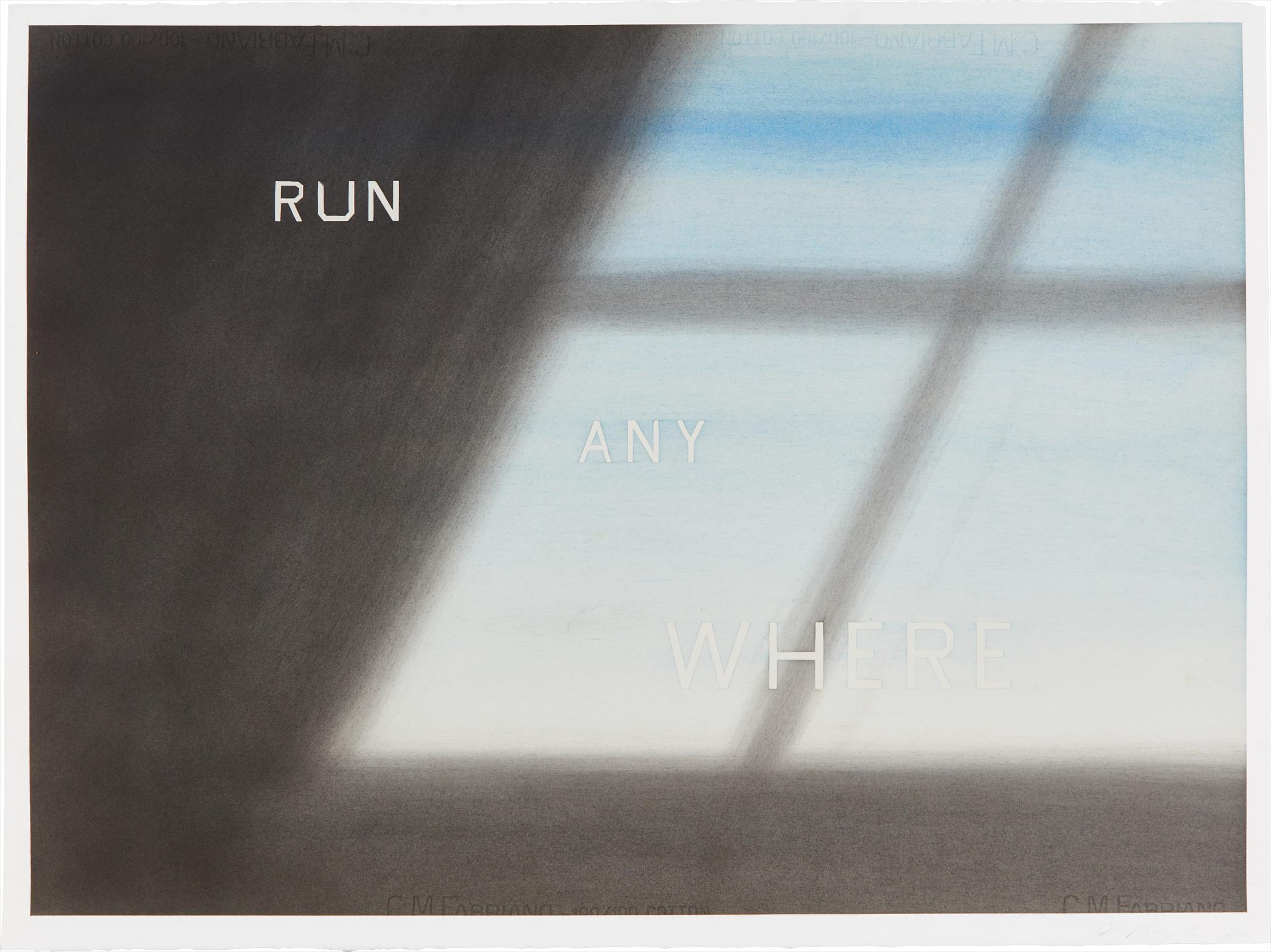 Ed Ruscha-Run Any Where-1984
