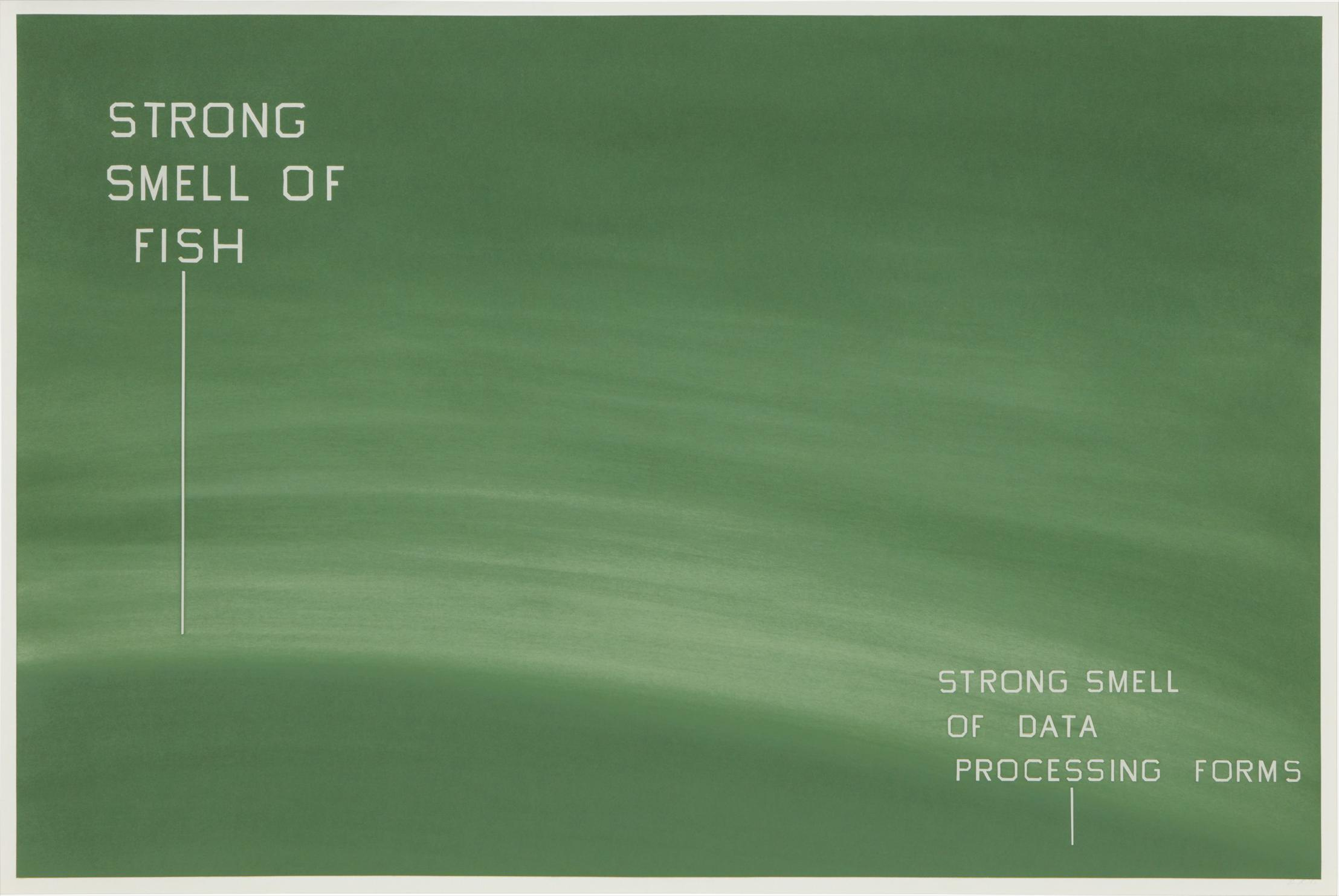 Ed Ruscha-Strong Smell Of Fish-Strong Smell Of Data Processing Forms-1982