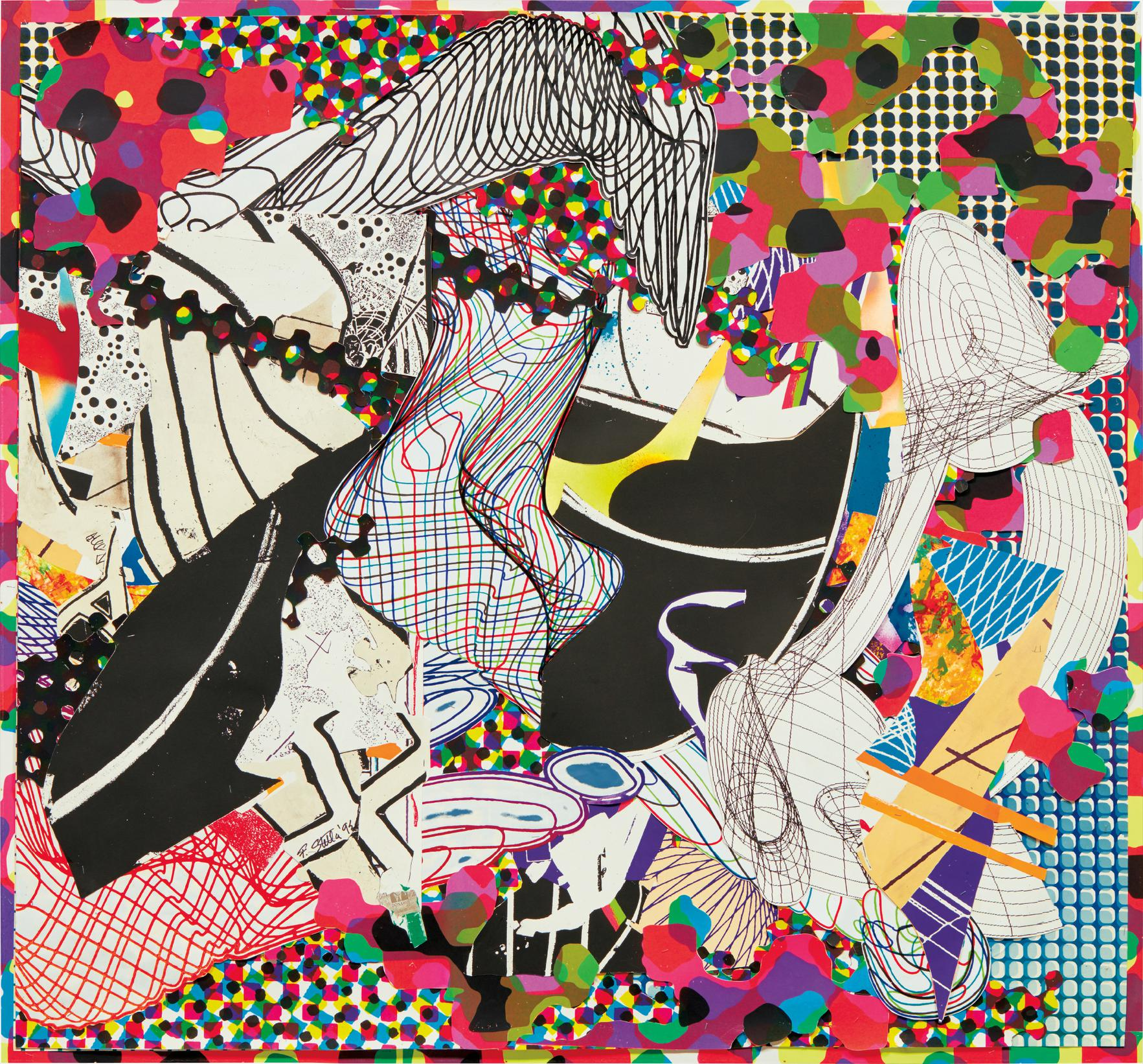 Frank Stella-Stapling Down And Cutting Up #2-1992