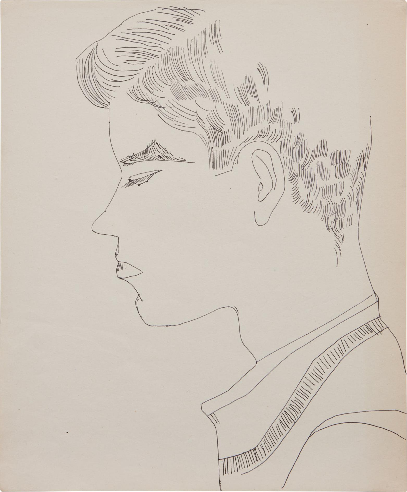 Andy Warhol-Boy-1956