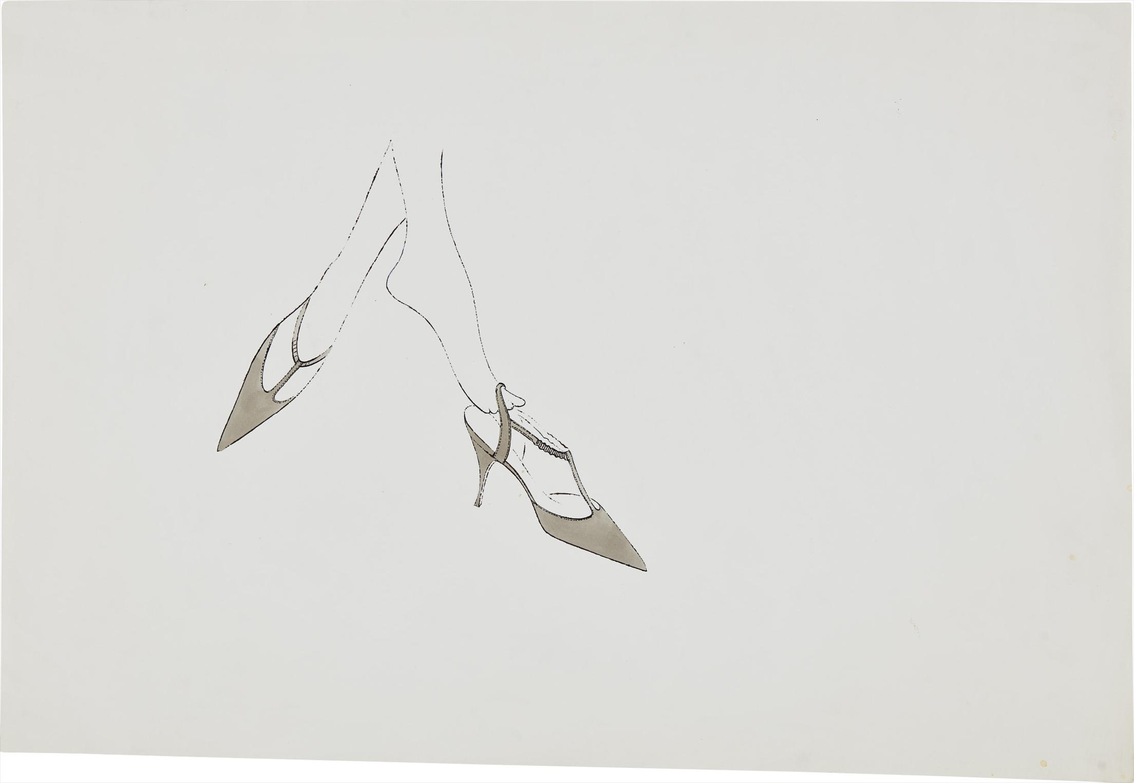 Andy Warhol-Feet In High Heels-1958
