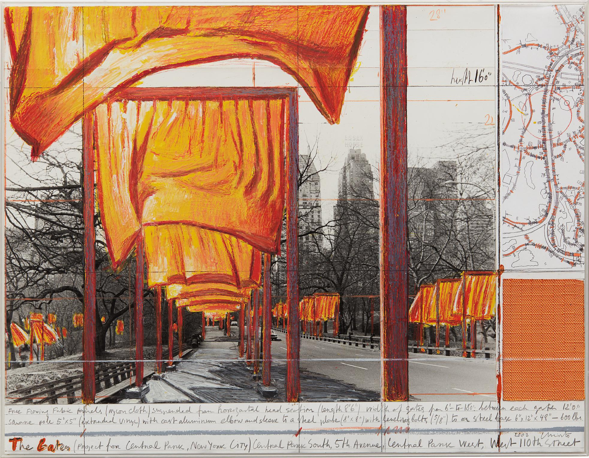 Christo and Jeanne-Claude-The Gates, Project For Central Park, New York City-2003