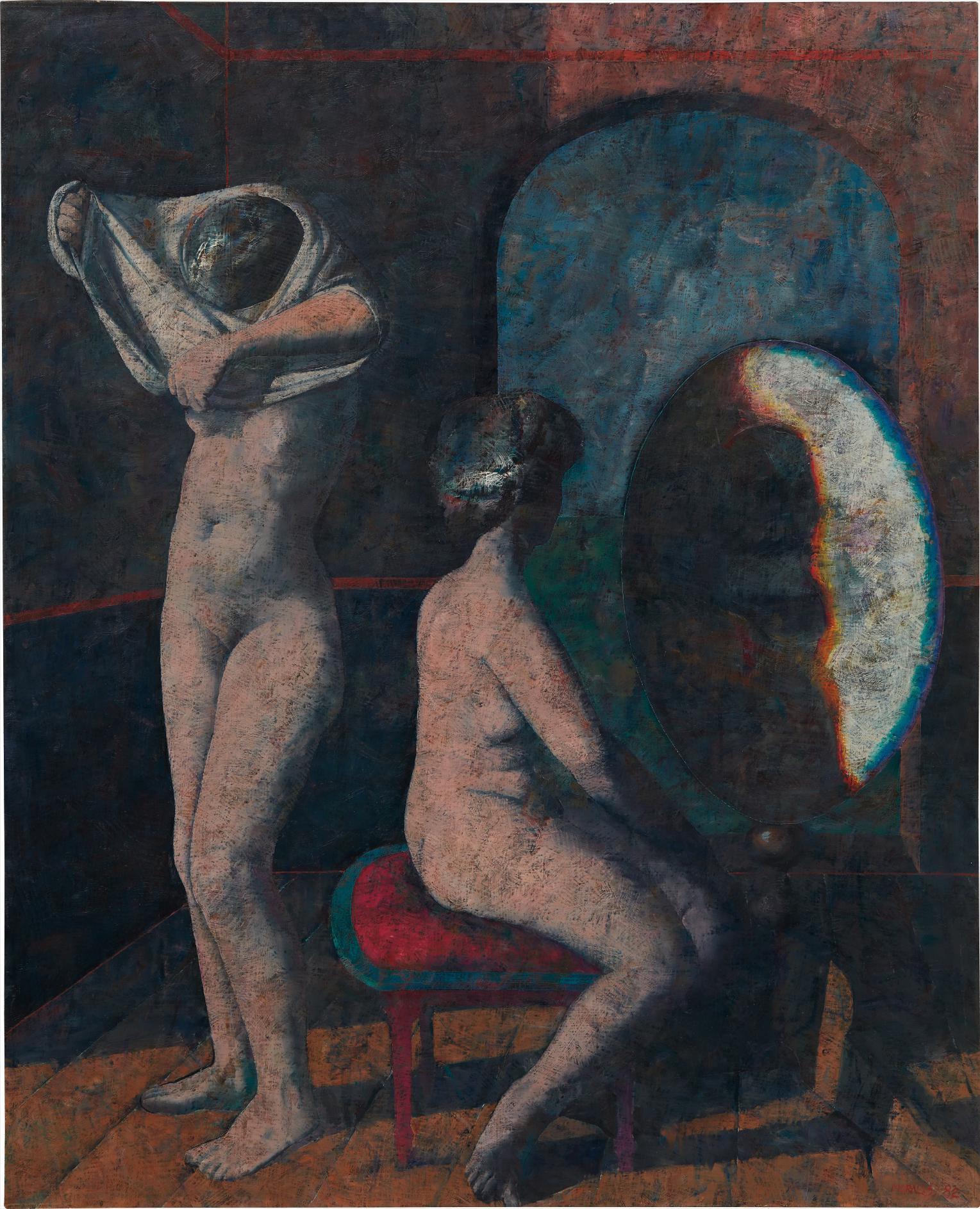 Armando Morales-Dos Mujeres Frente Al Espejo-1982