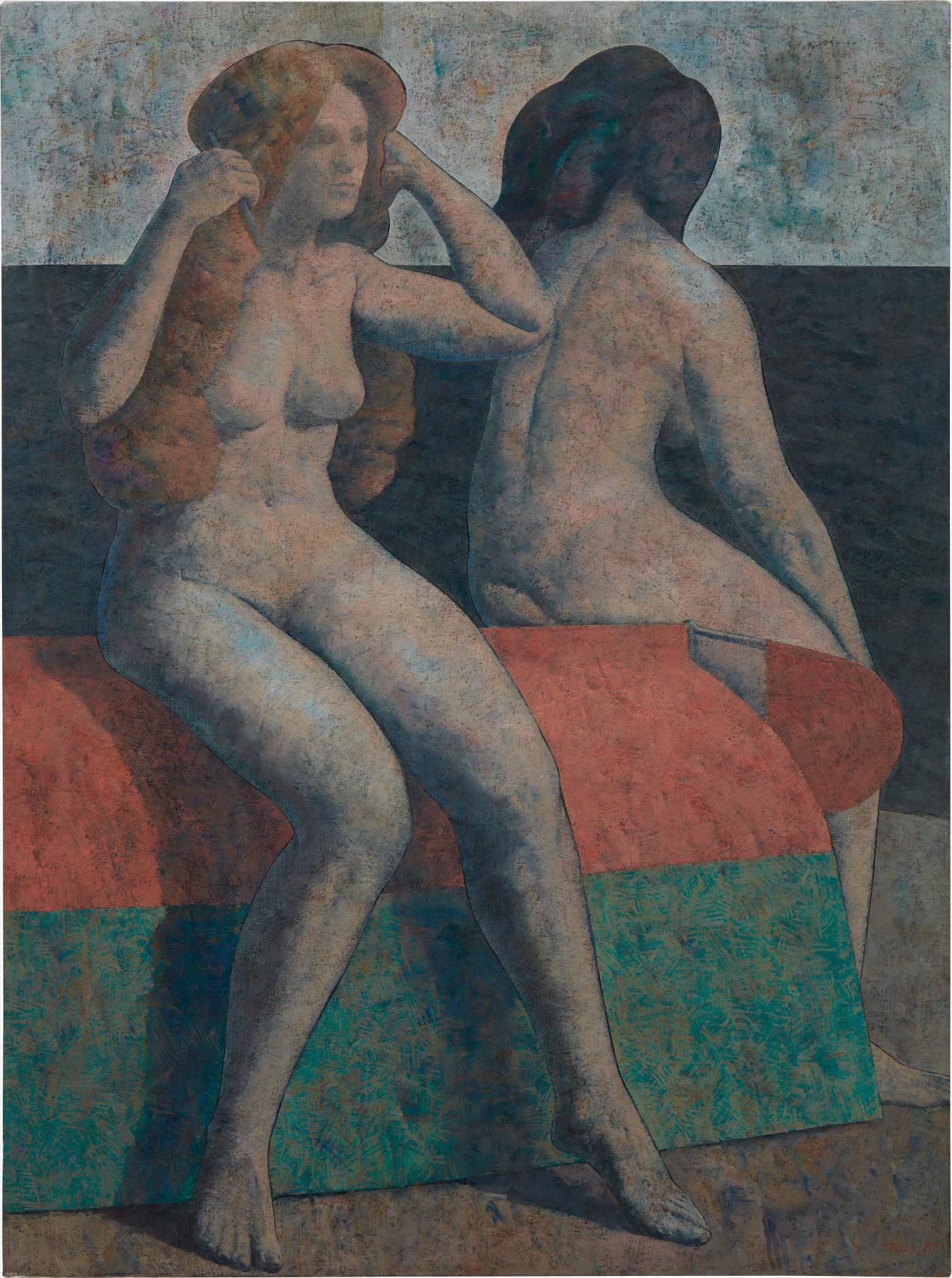 Armando Morales-Deux Nus Assis-1987
