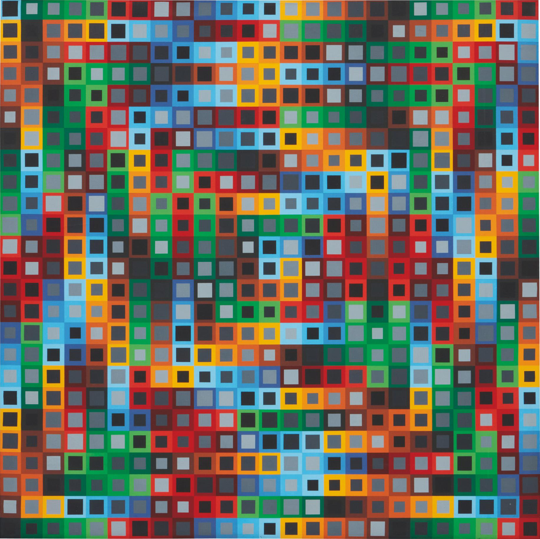 Victor Vasarely-Orion K-1972