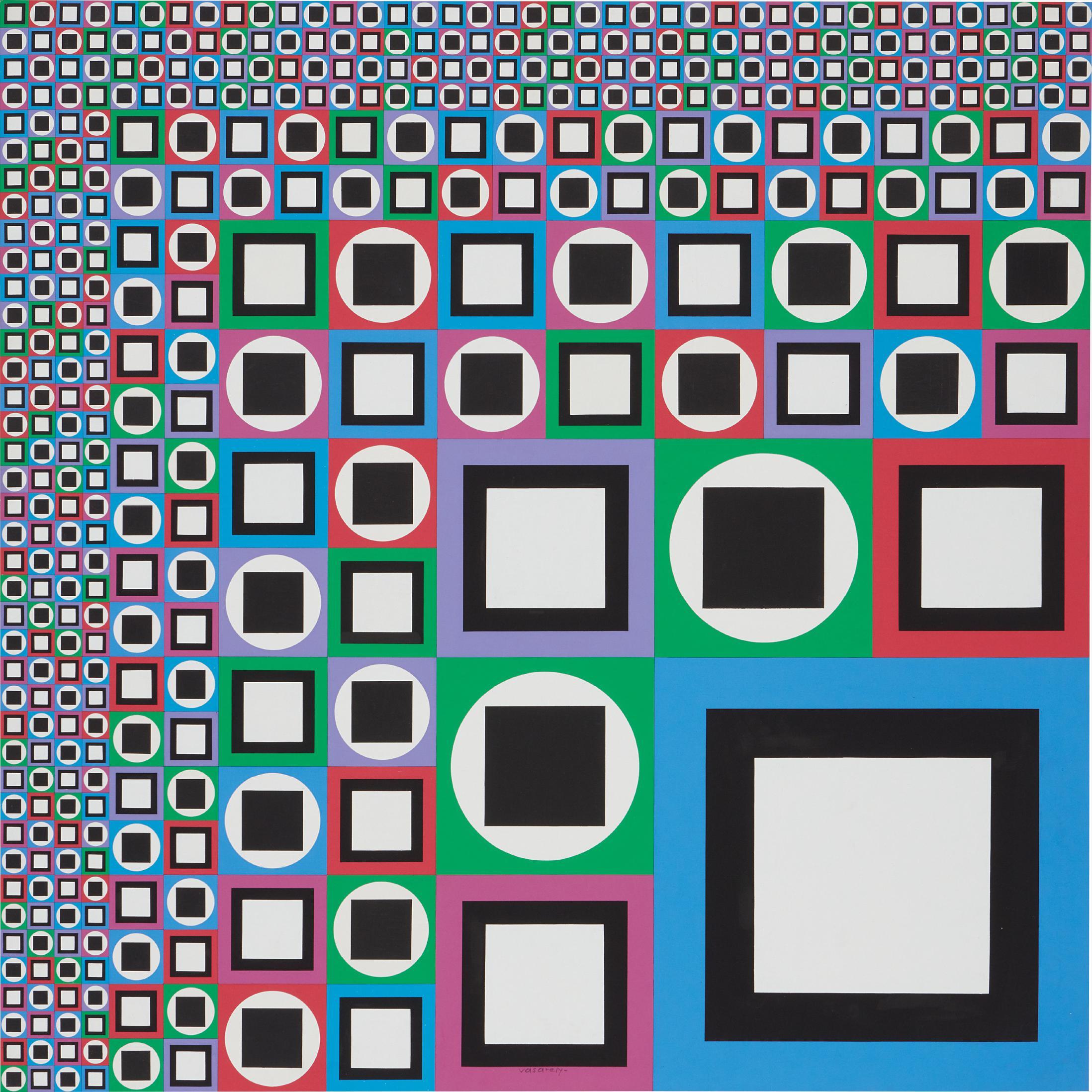 Victor Vasarely-Mow-1980