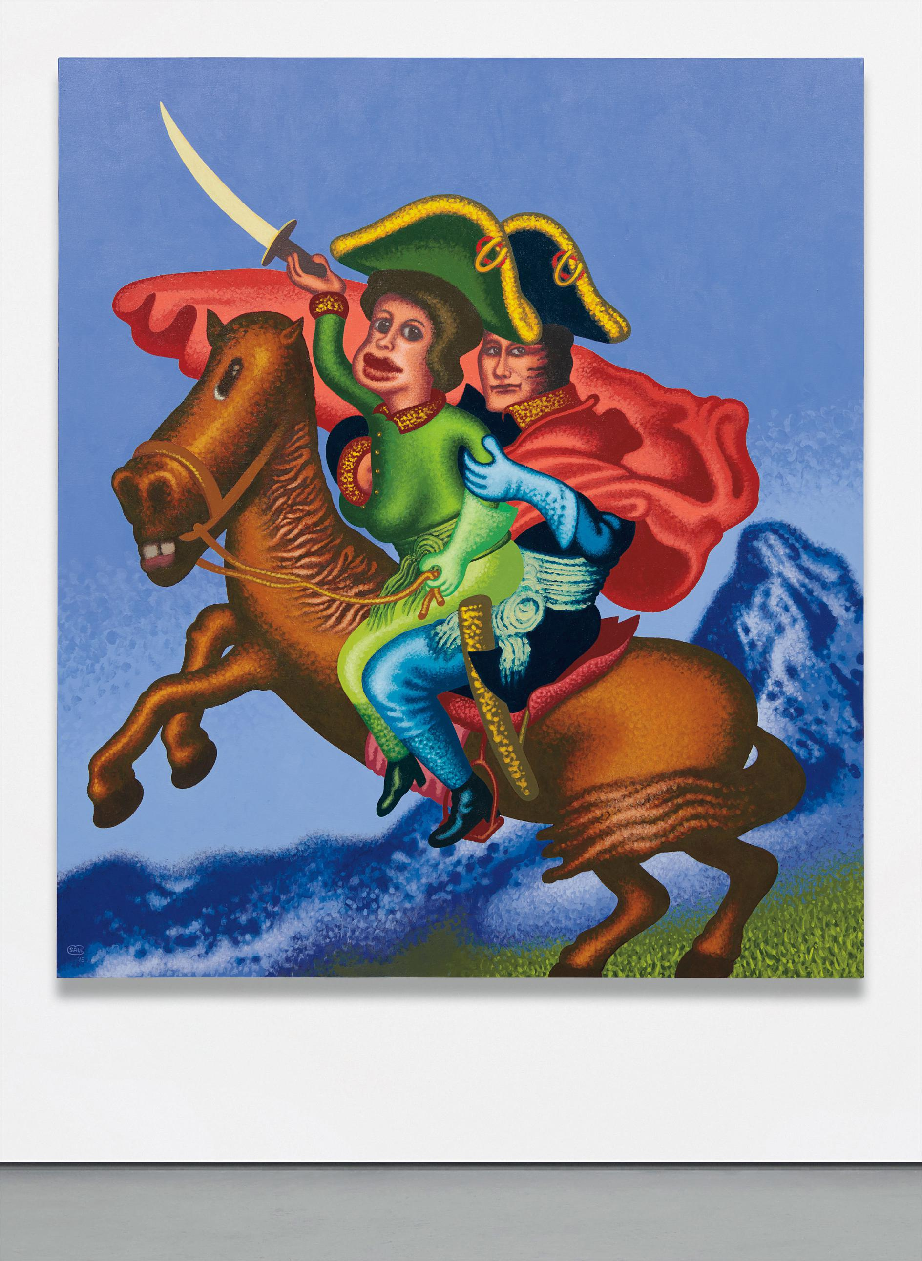 Peter Saul-Two Napoleons Crossing The Alps-2015