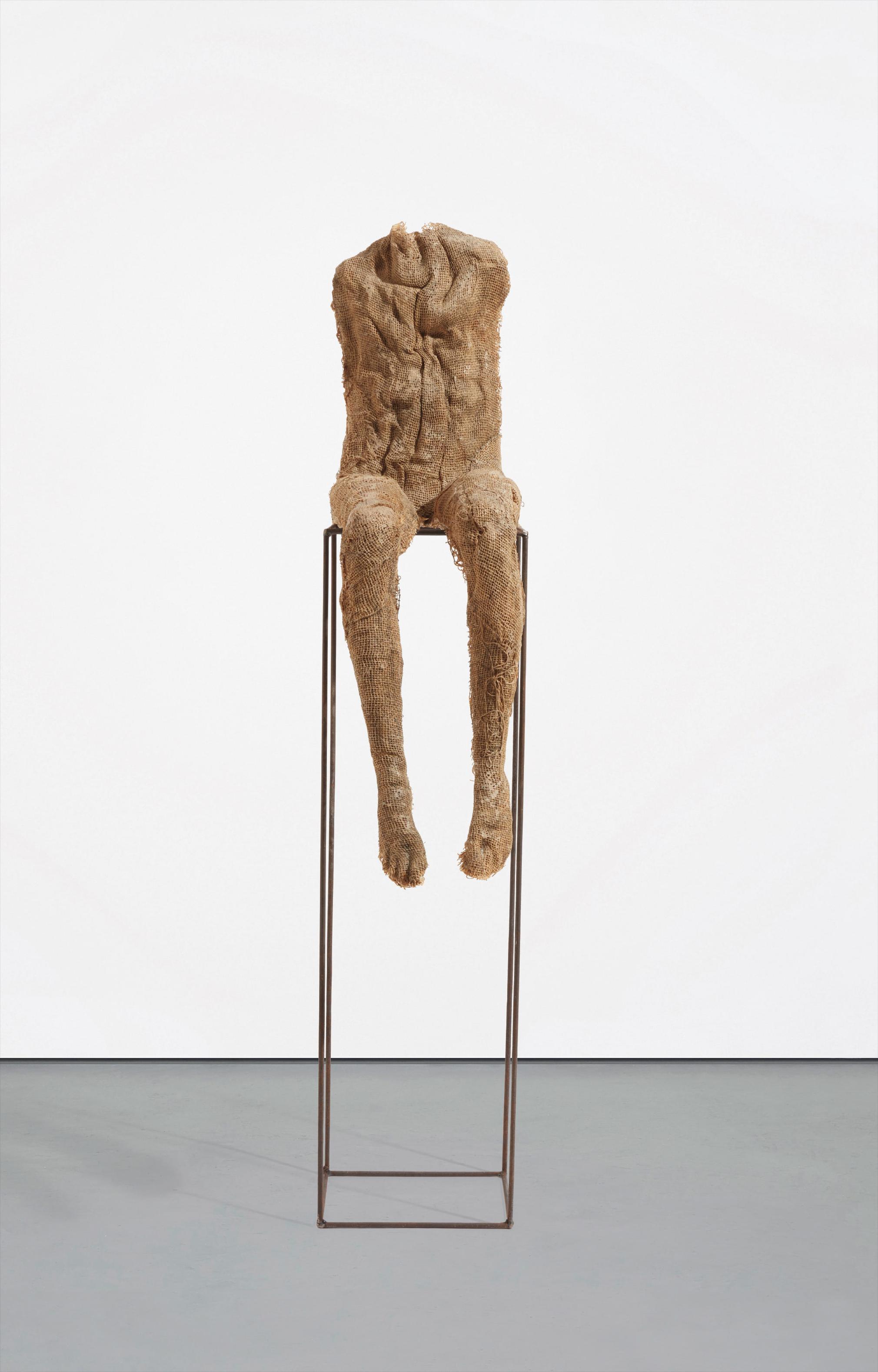 Magdalena Abakanowicz-Pink Small Figure I-1993