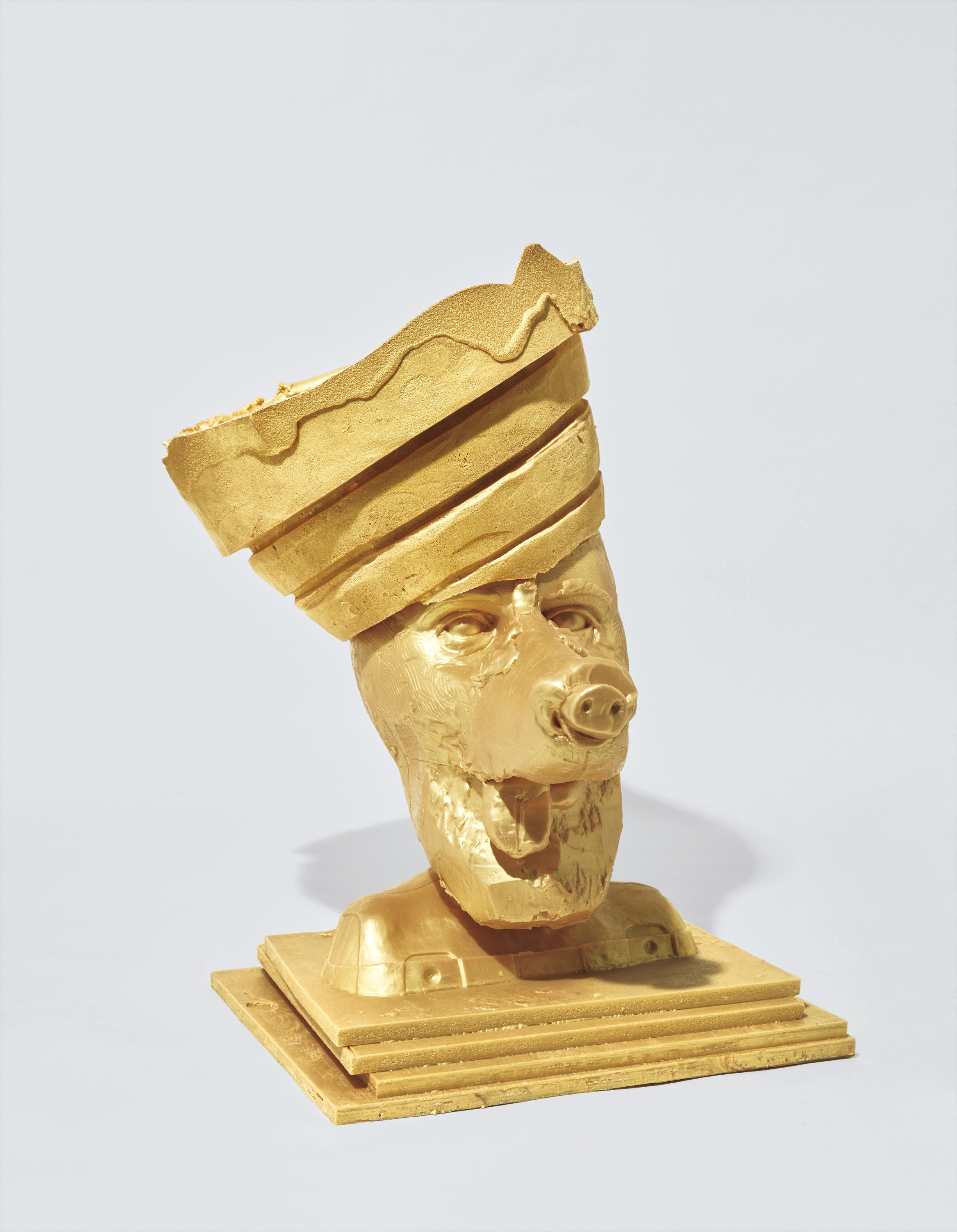 Paul McCarthy-Gold Butter Dog 1, Guggenheim Crown, Silicon-2003
