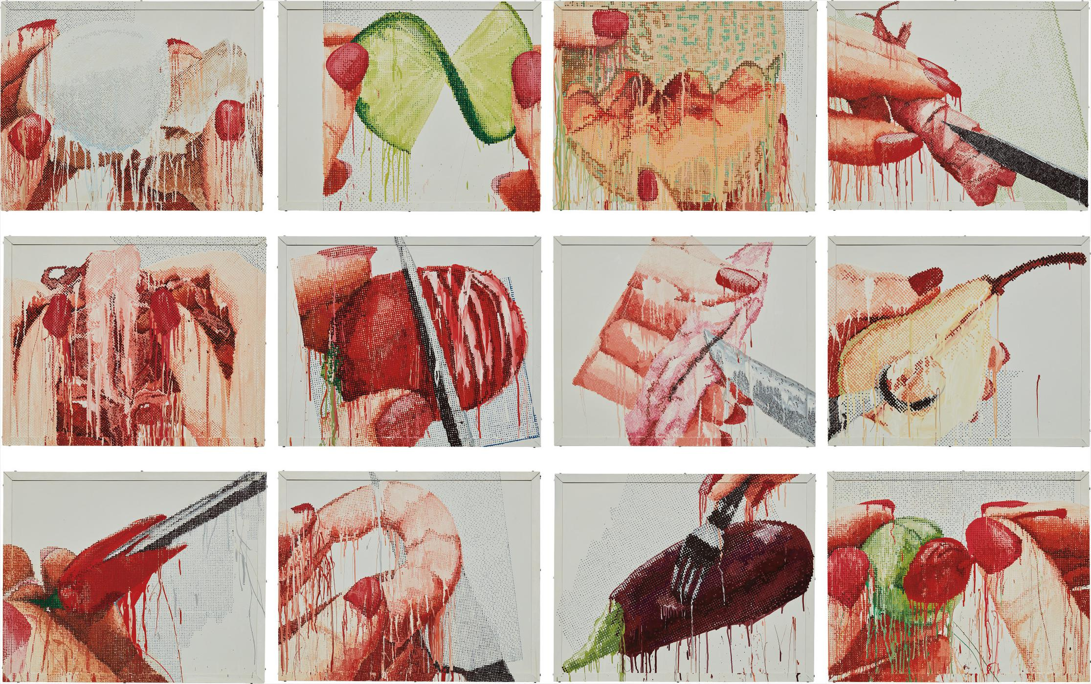 Marilyn Minter-12 works from 100 Food Porn-1990