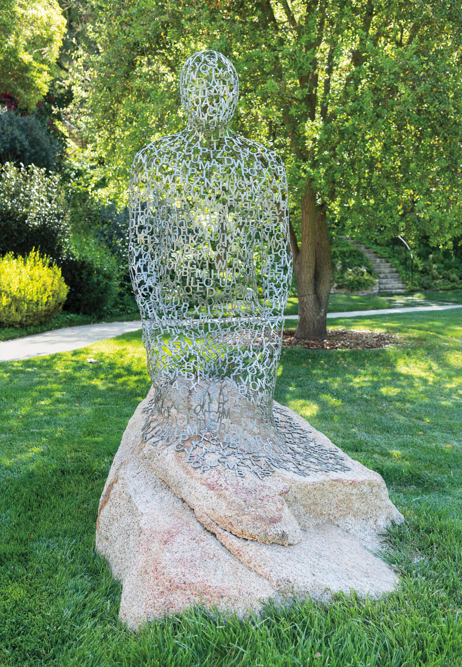Jaume Plensa-Kneeled Shadow-2008