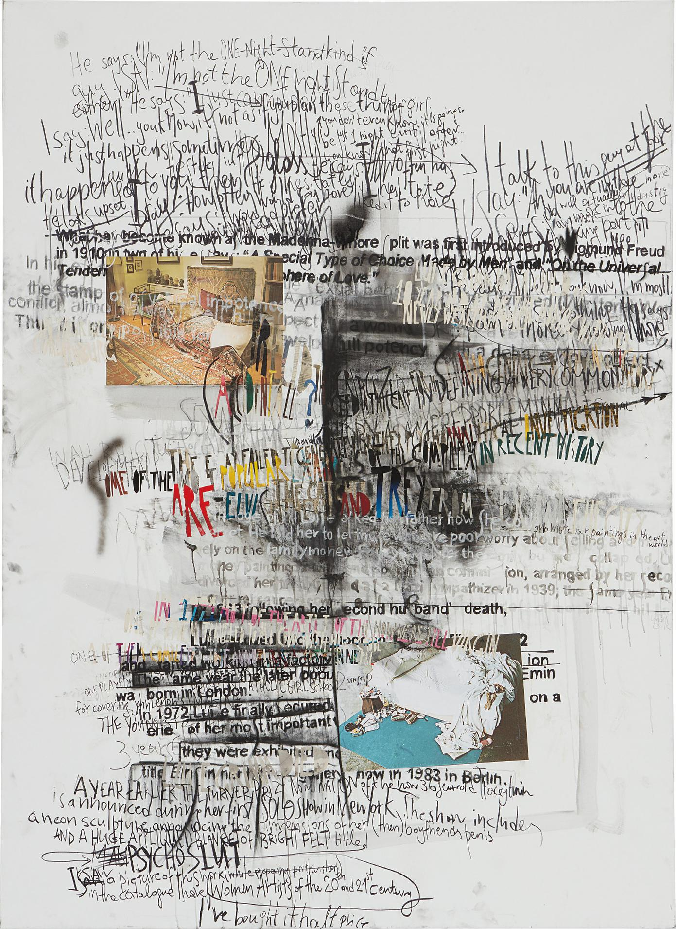 Despina Stokou - Google Search Collage Ii (Terms: Madonna-Whore Split, Freud, Luise Grim, Tracey Emin)-2011