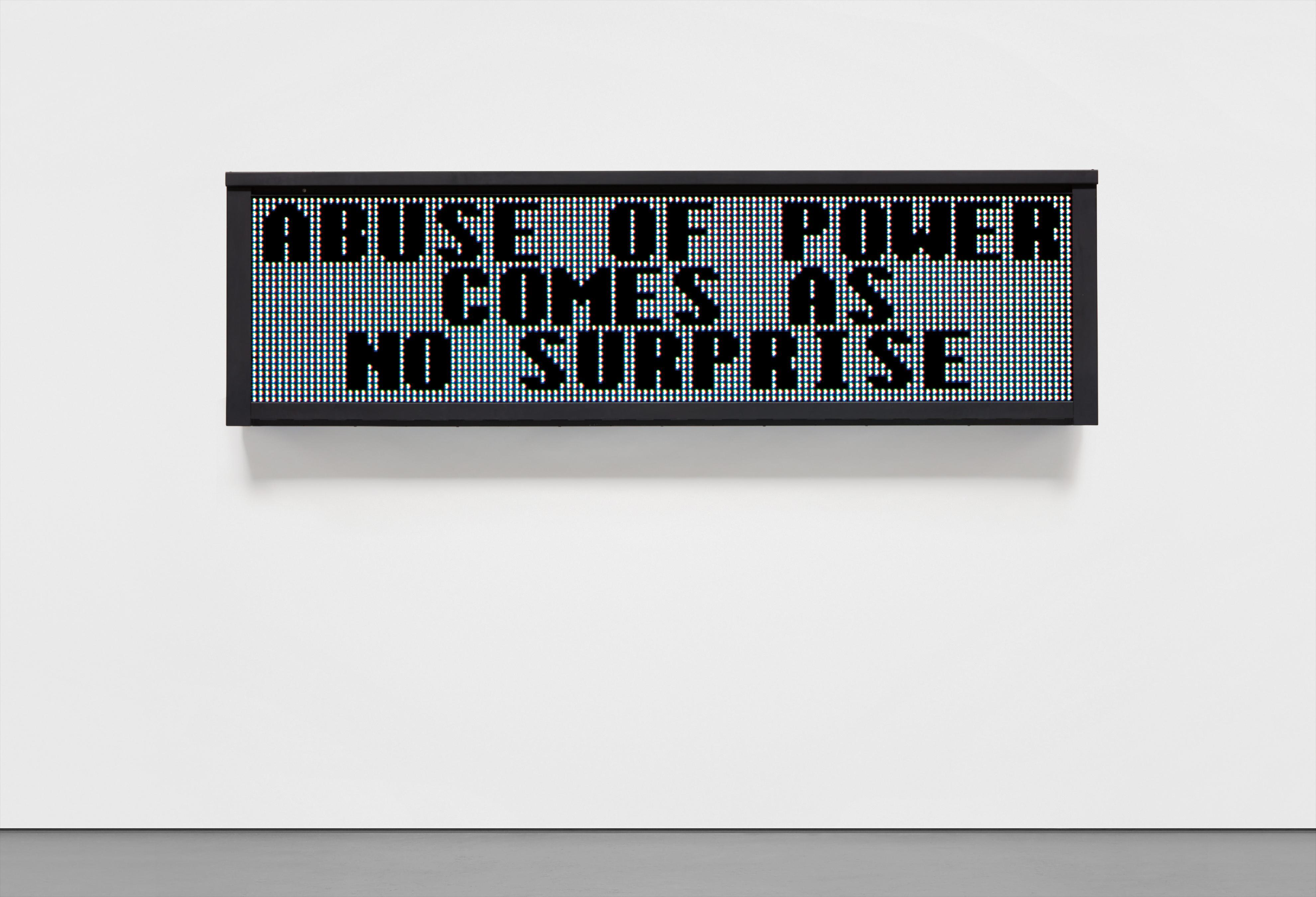 Jenny Holzer-Truisms: Unex Sign-1983
