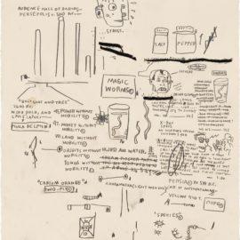 Jean-Michel Basquiat-Untitled (Magic Worms)-1984