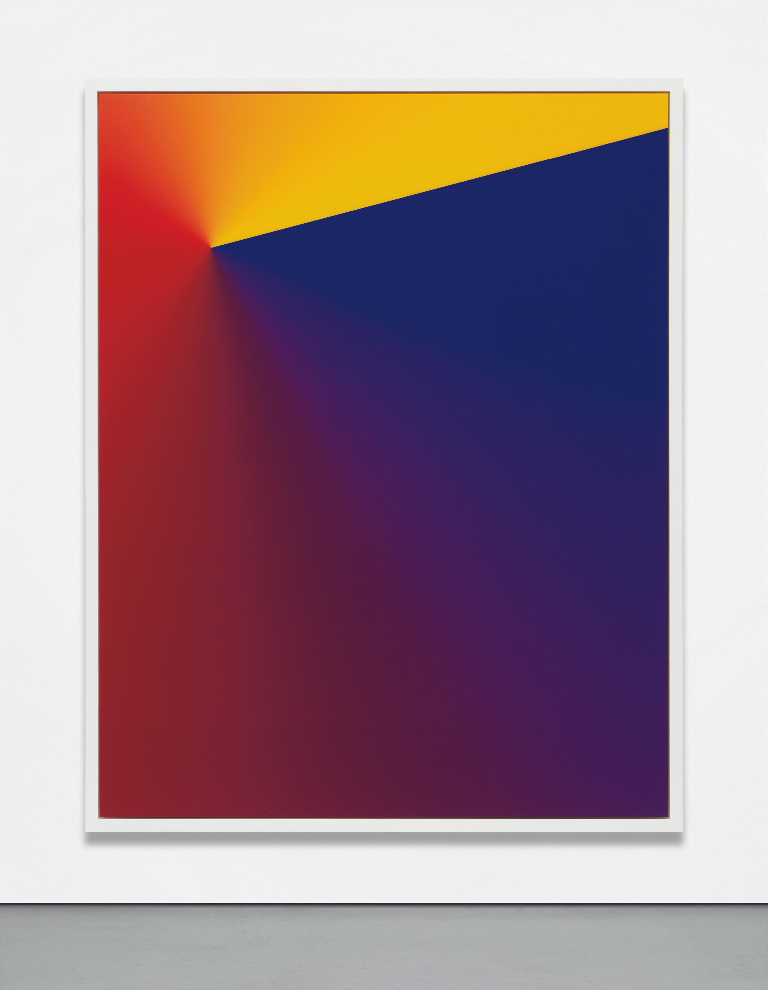 Cory Arcangel-Photoshop Cs: 84 By 66 Inches, 300 Dpi, Rgb, Square Pixels, Default Gradient, Blue, Red, Yellow (Turn Reverse Off), Mousedown X=4000 Y=5350, Mouse Up X=20000 Y=1200-2011
