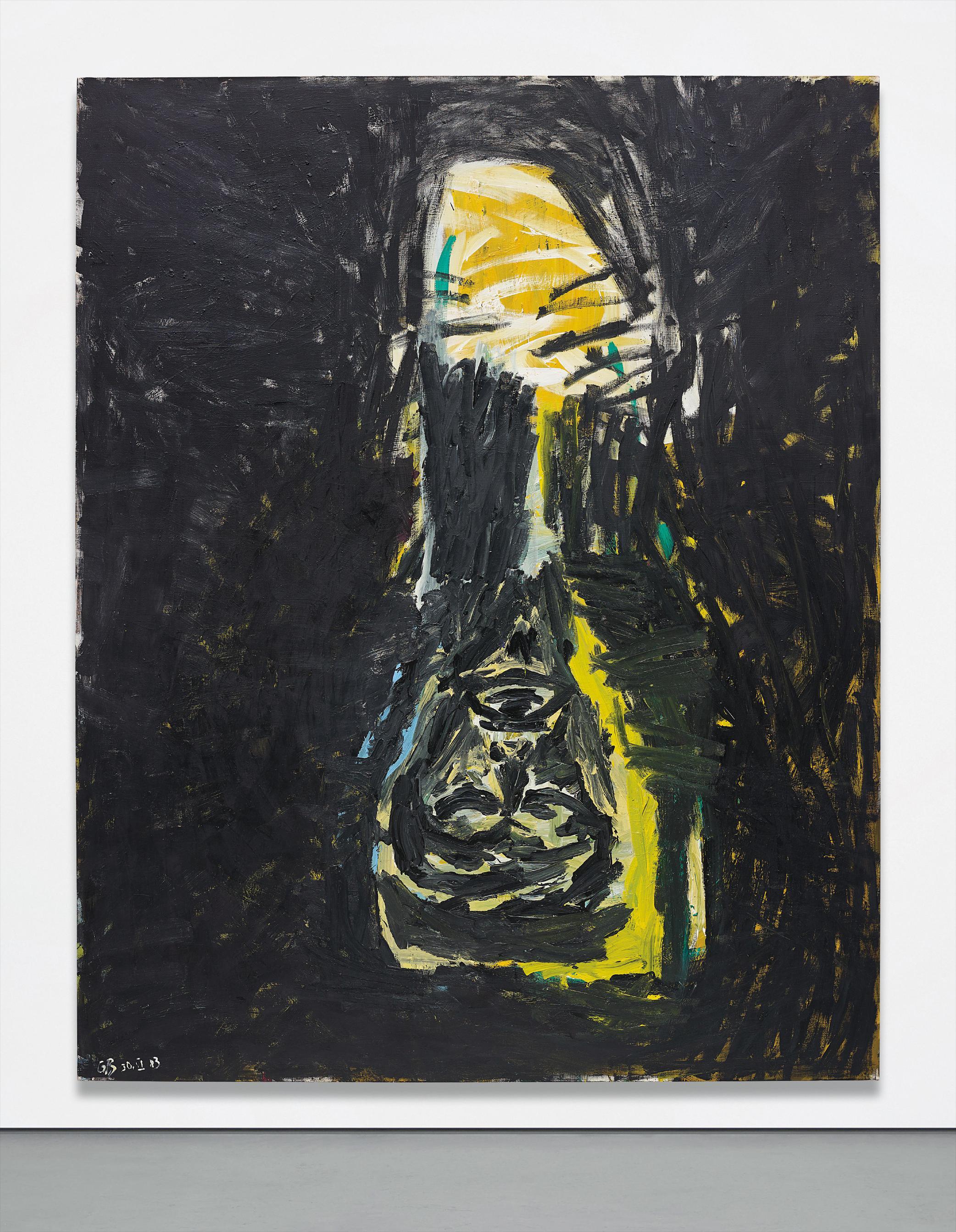Georg Baselitz-Schwarze Saule (Black Column)-1983