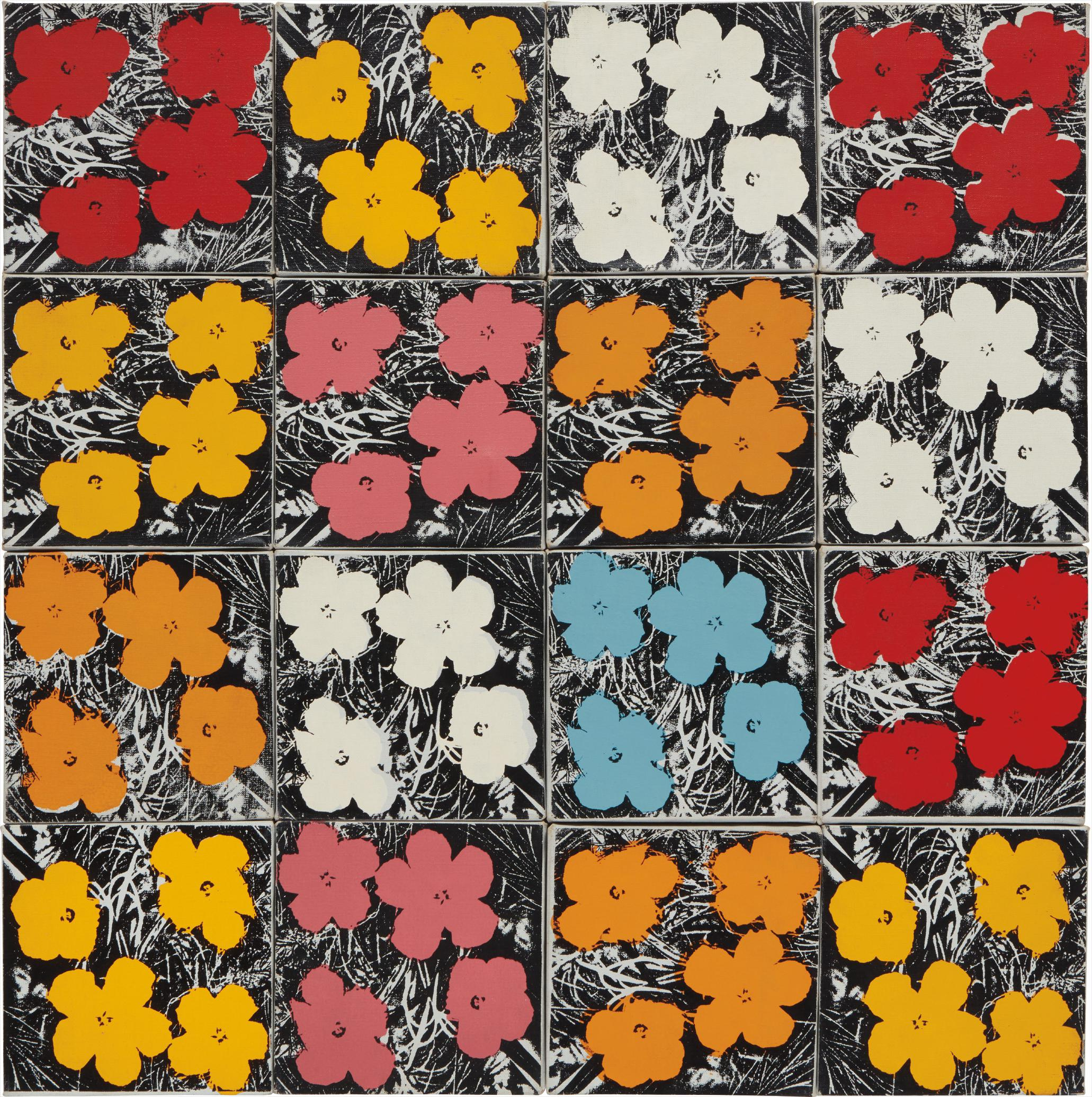 Andy Warhol-16 Flowers-1965