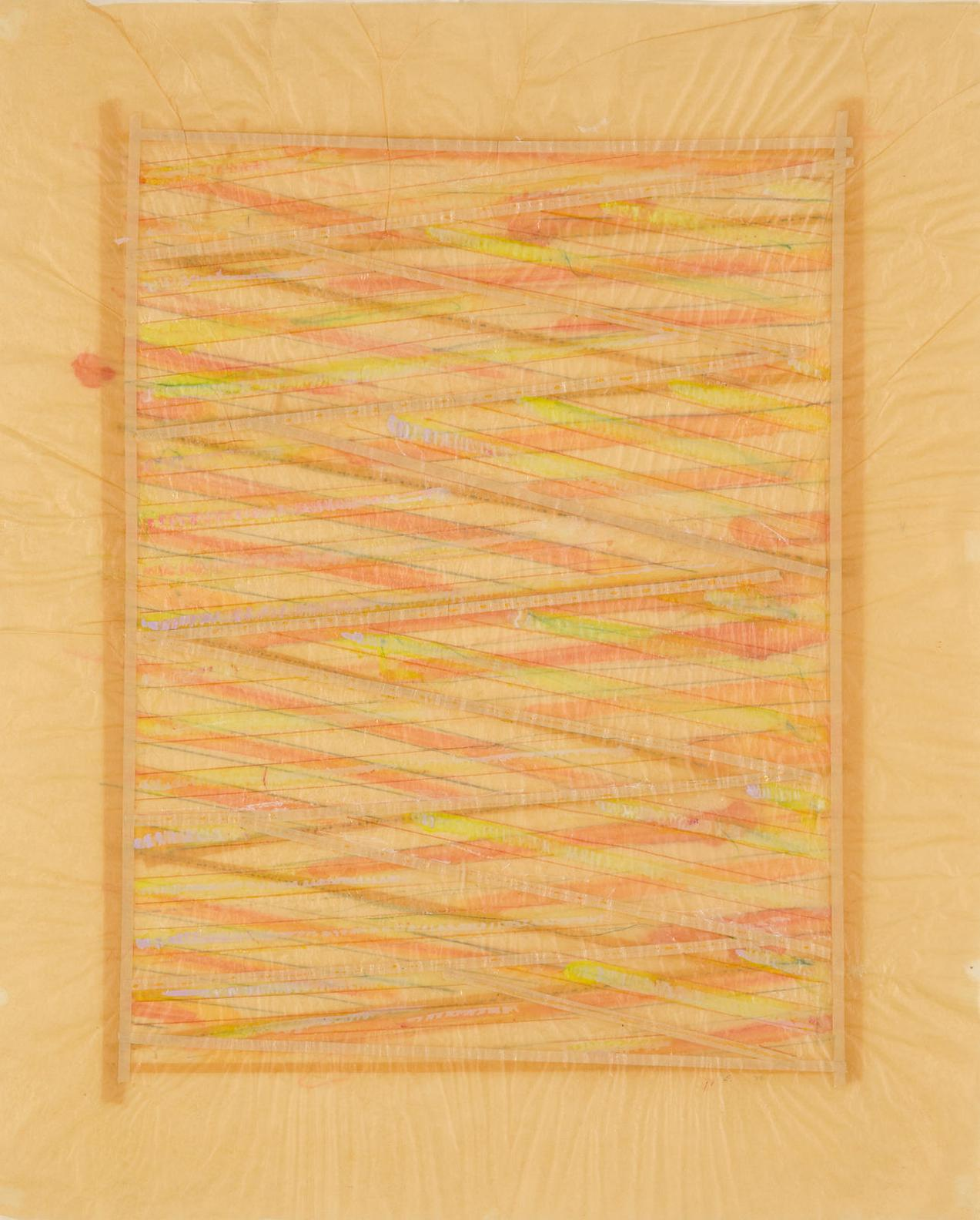 Ed Moses-Vertical Drawing (No. 22)-1972