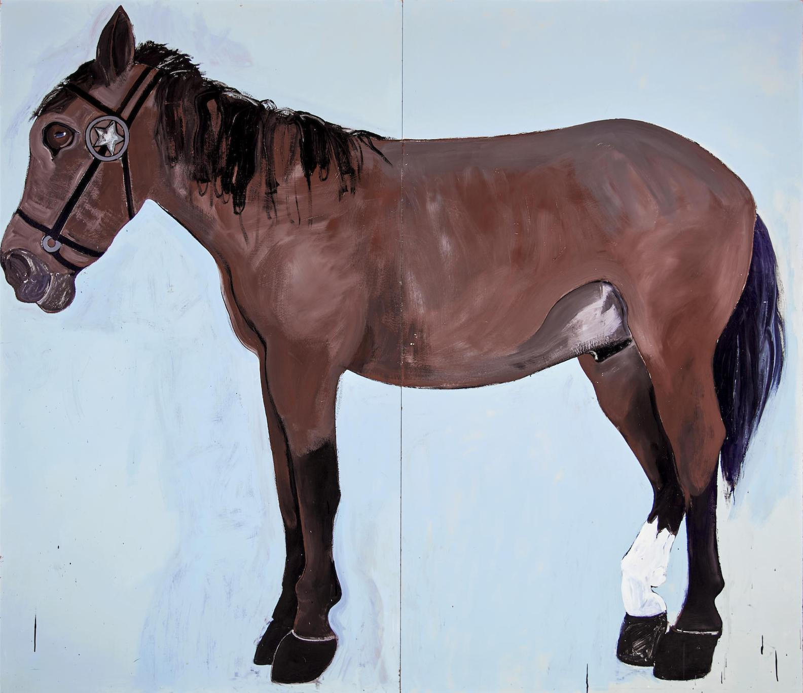 Joan Brown-Portrait Of A Horse-1972