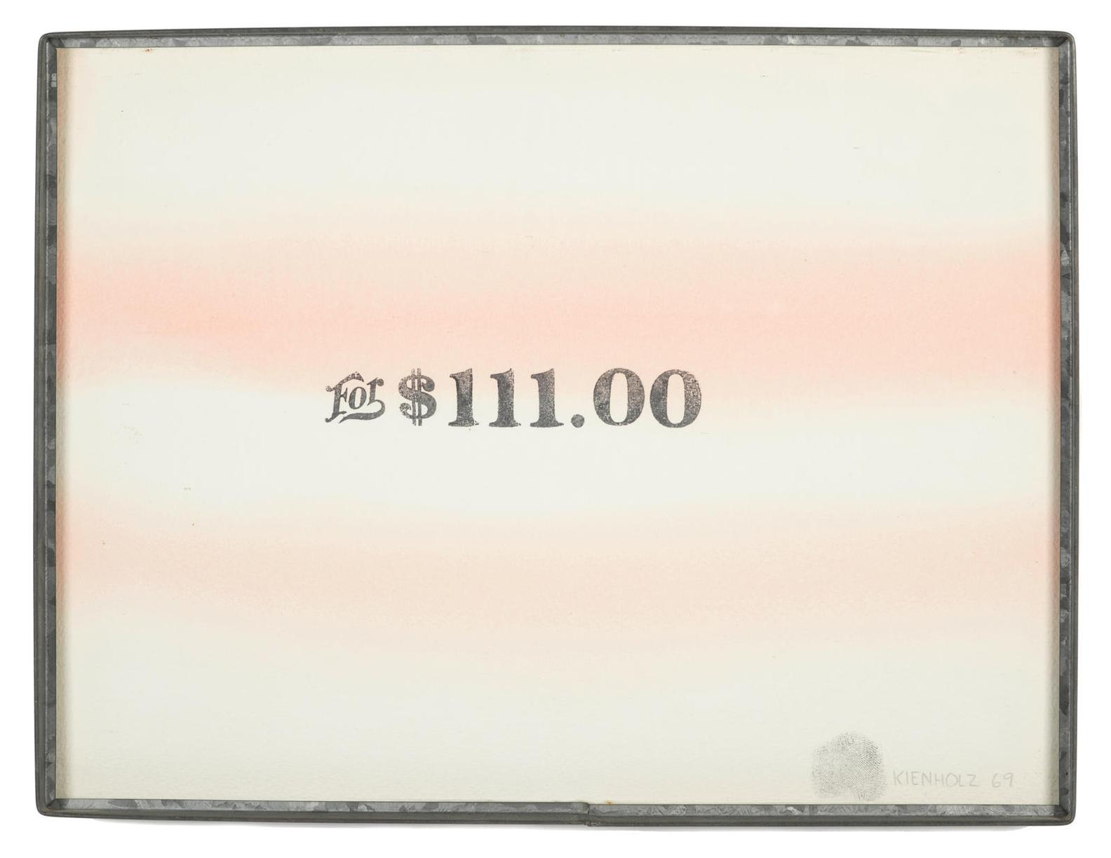 Edward Kienholz-For $111.00-1969