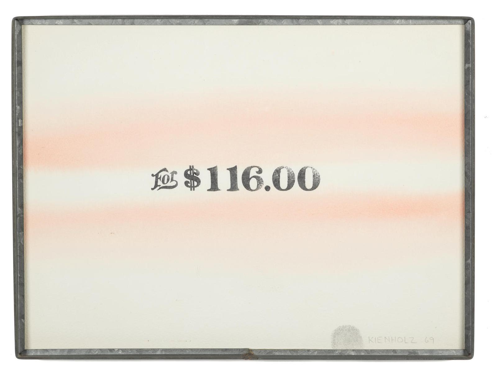 Edward Kienholz-For $116.00-1969