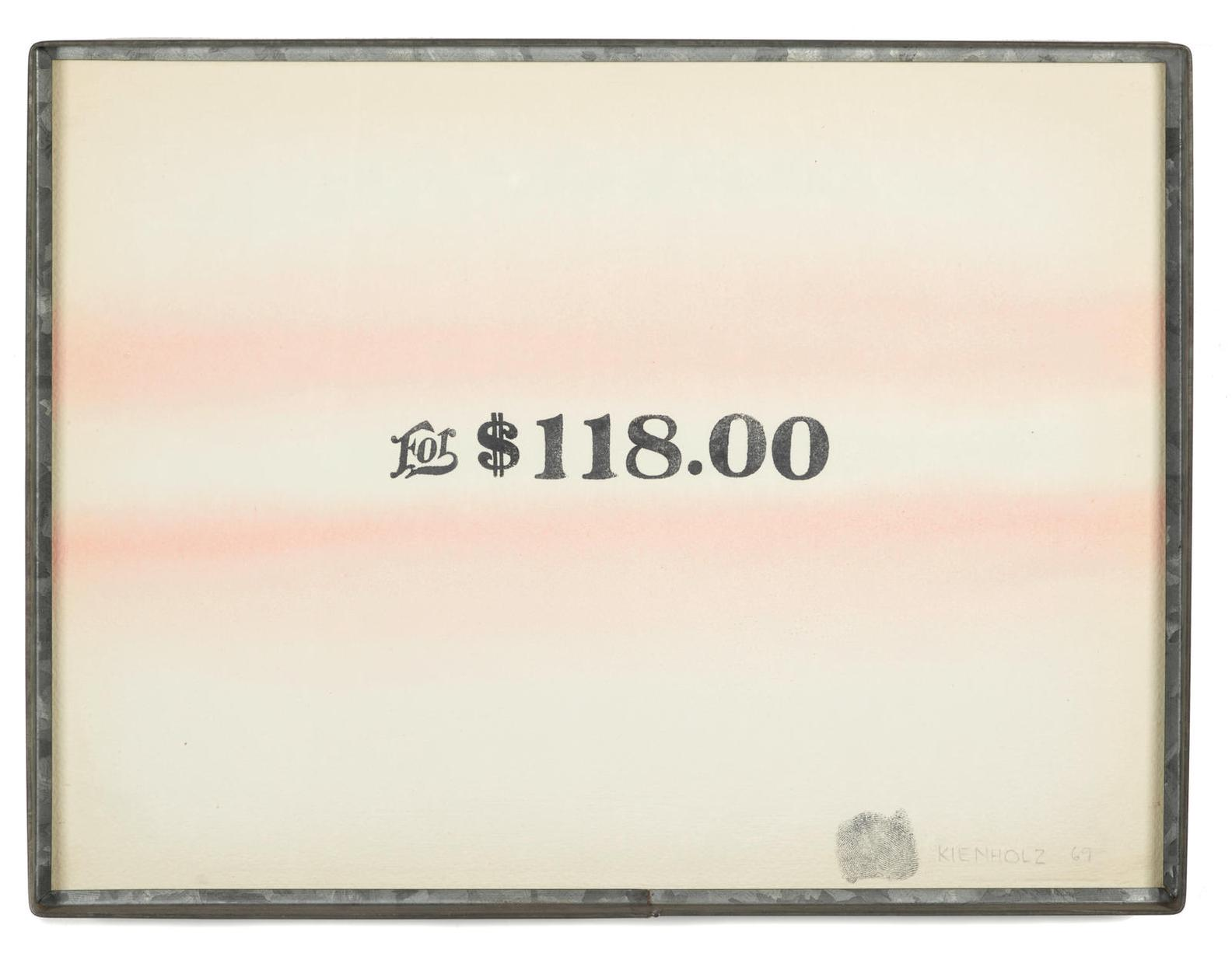 Edward Kienholz-For $118.00-1969