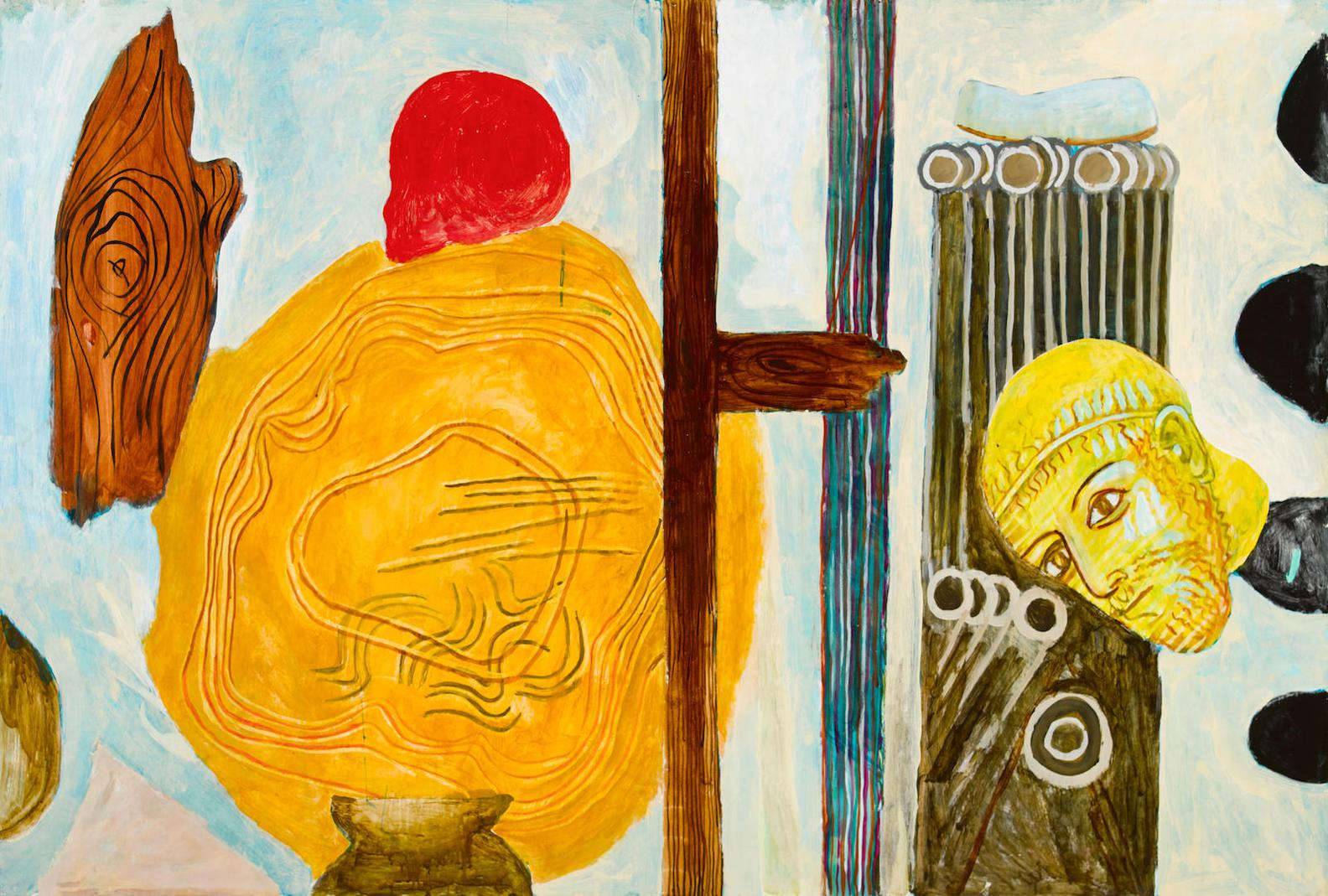Charles Garabedian - Untitled (Red Skull)-1981