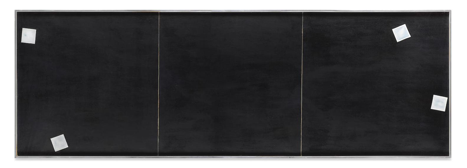 Joe Goode-Untitled (Black Photo Cloud Triptych)-1970