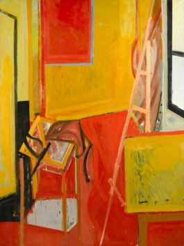 James Weeks-Studio Interior With Easel-1953
