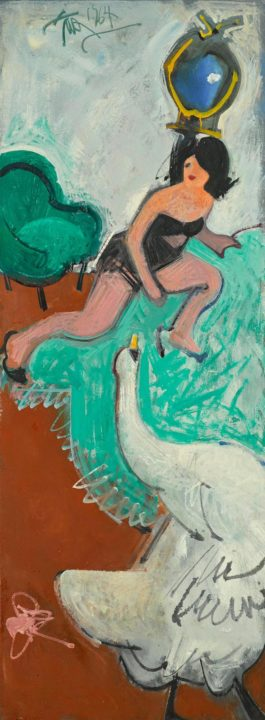 Hassel Smith - Leda And The Swan-1964