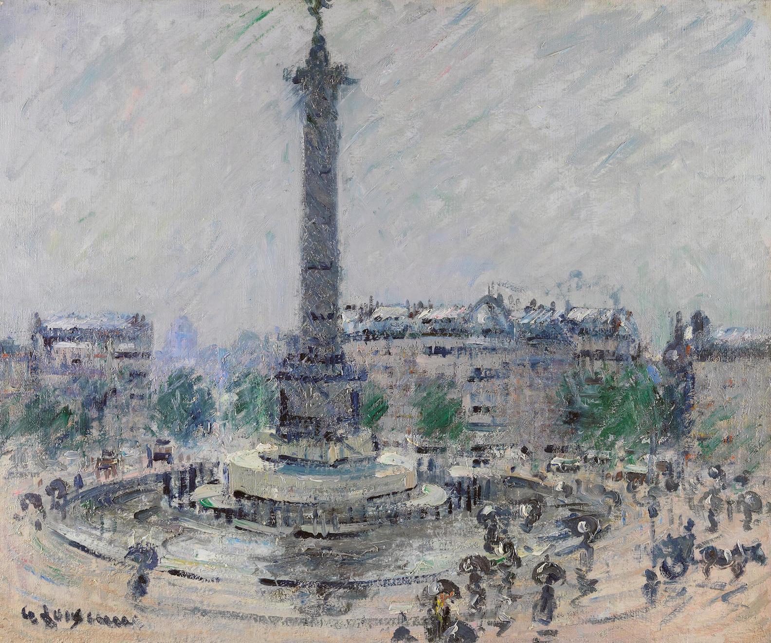Gustave Loiseau-Place De La Bastille-1922