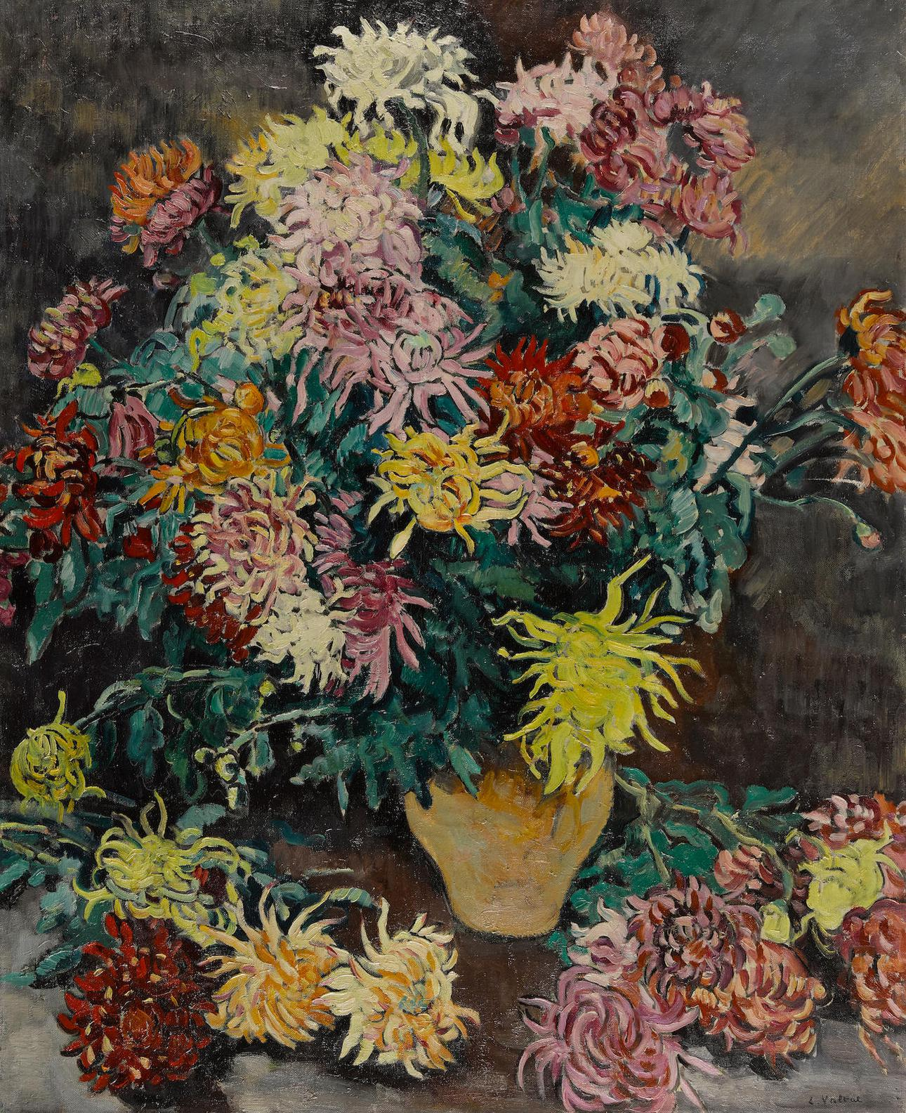 Louis Valtat-Bouquet De Dahlias-1929