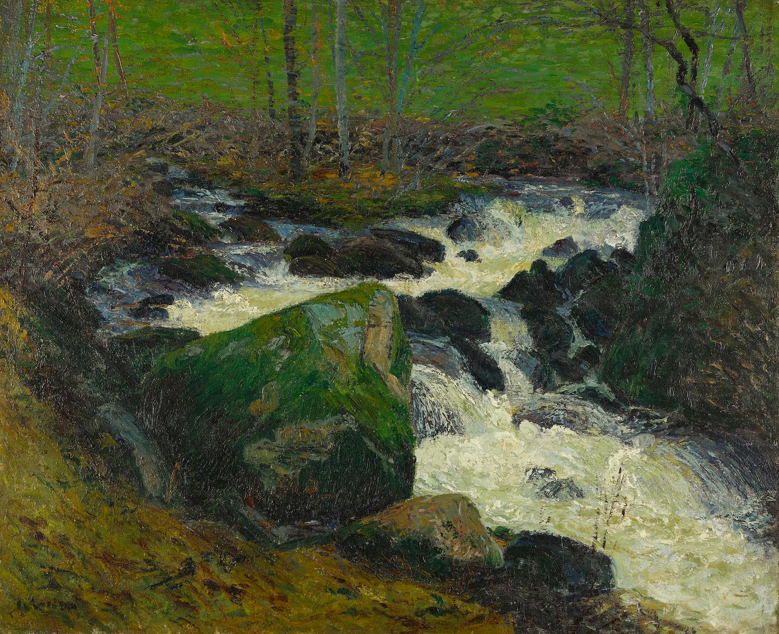 Gustave Loiseau-Riviere Sous Bois, La Riviere De Mortain-1894