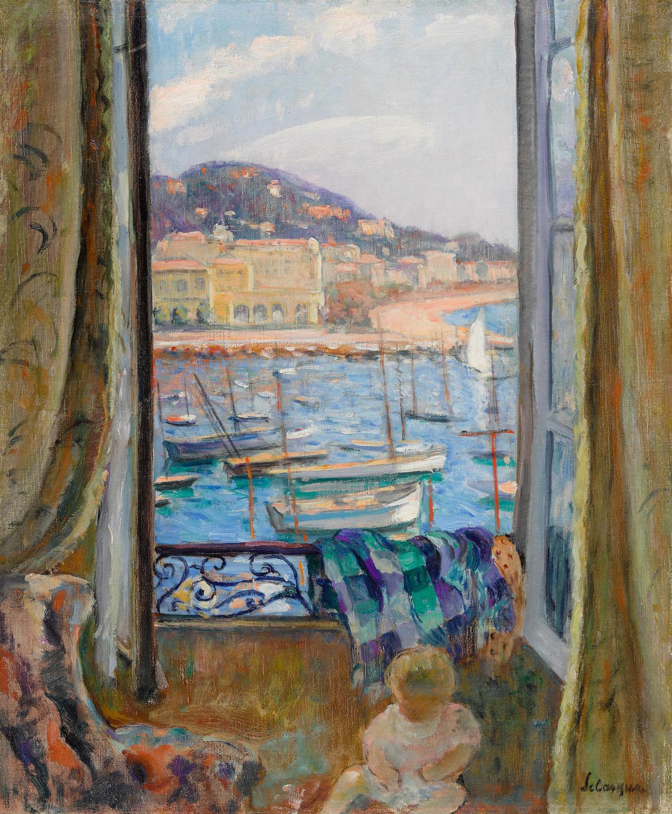 Henri Lebasque-Villefranche, Fenetre Ouverte Sur Le Port-1926