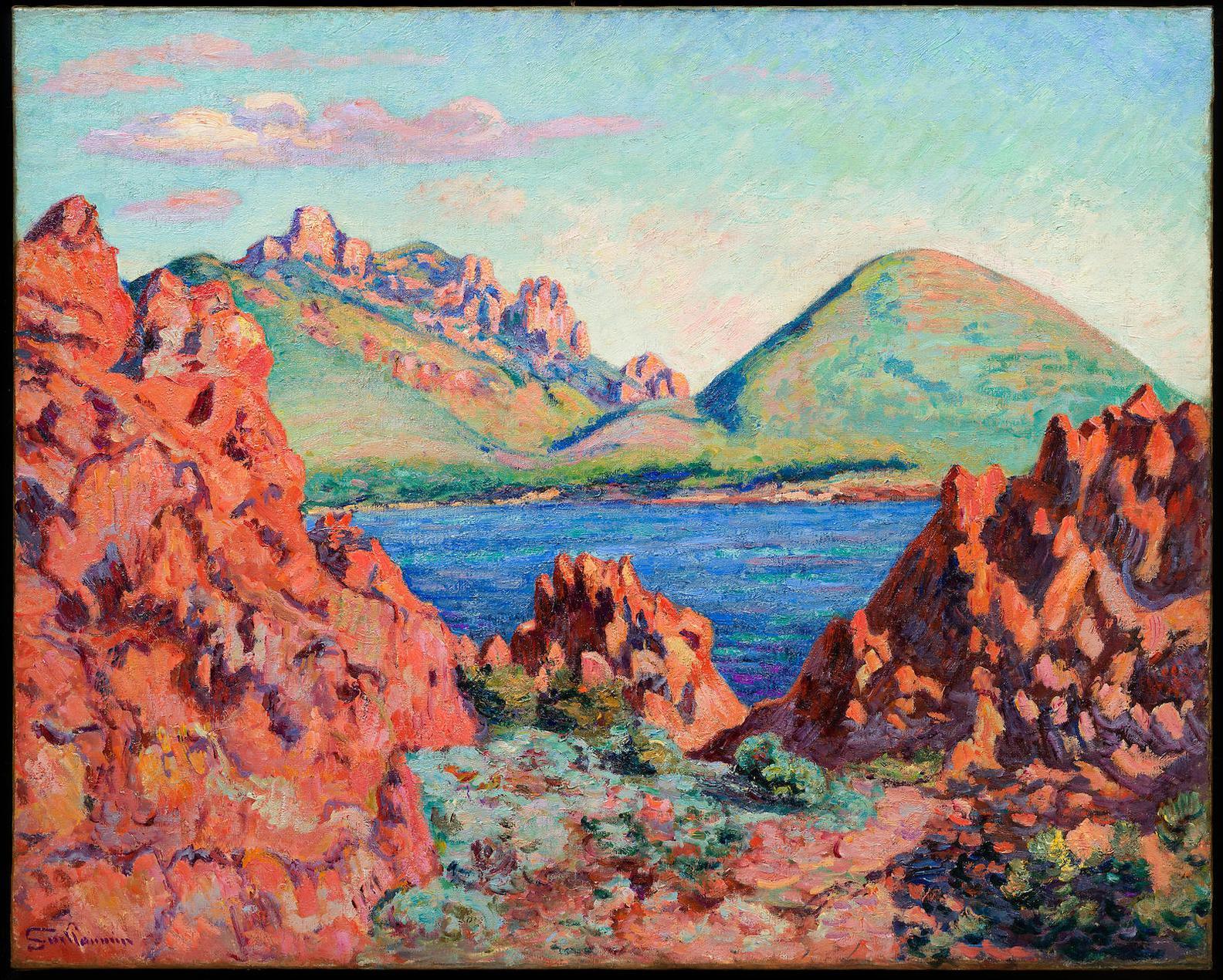 Jean-Baptiste Armand Guillaumin-Le Cap Long, Les Hauteurs Du Cap Roux-1898