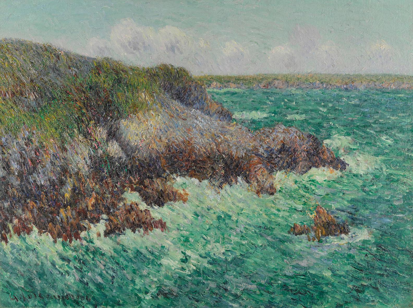 Gustave Loiseau-Rochers De Saint-Lunaire-1904