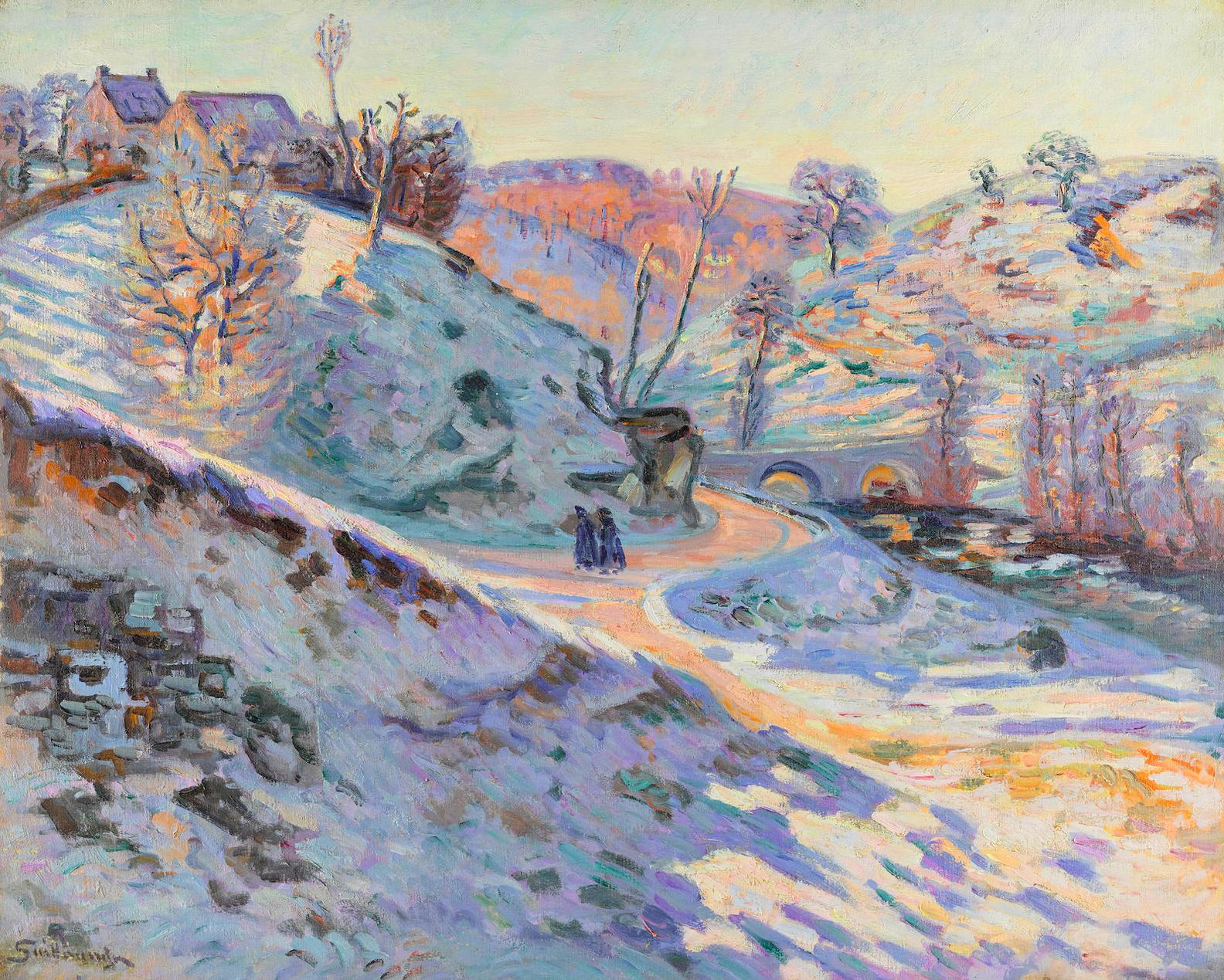 Jean-Baptiste Armand Guillaumin-Le Pont Charrant, Gelee Blanche, Crozant-1900
