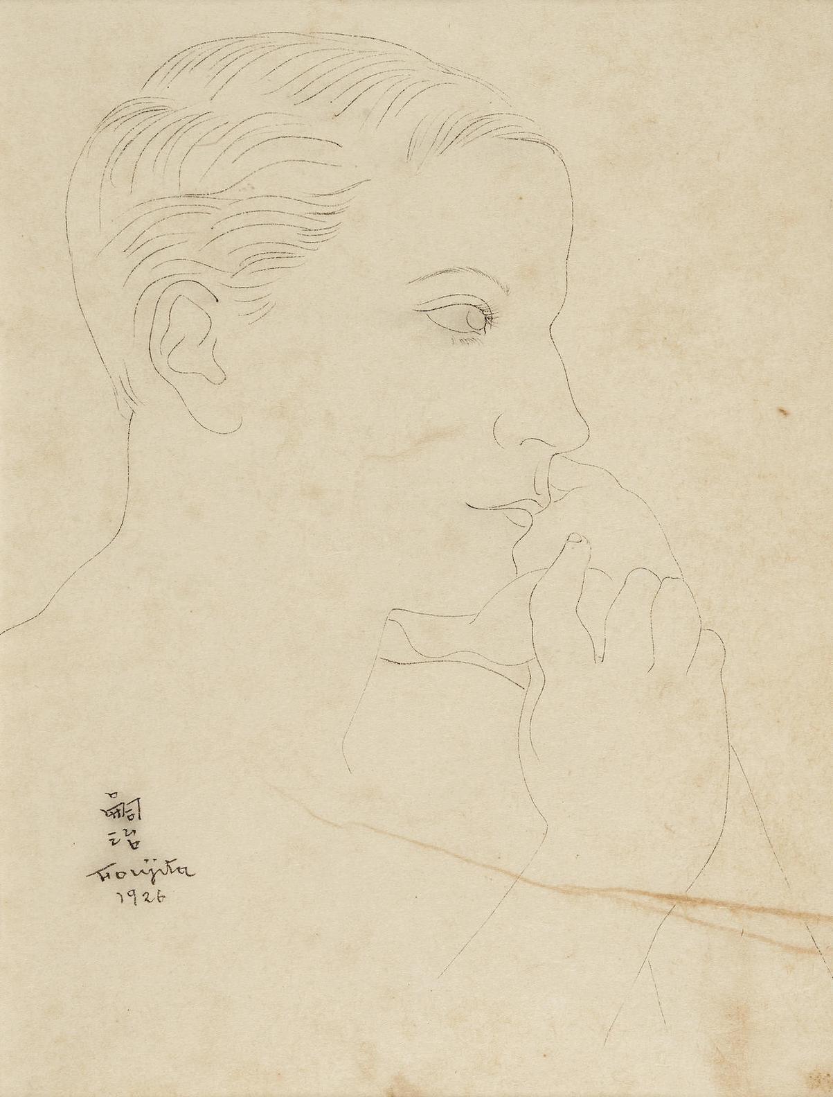 Tsuguharu Foujita-Portrait-1926