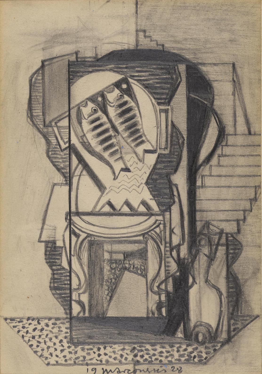 Louis Marcoussis-Panier De Poissons-1928