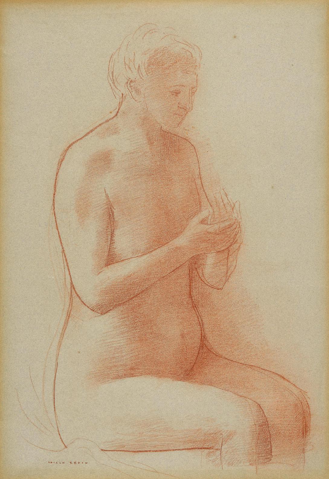 Odilon Redon-Nu Assis-1904