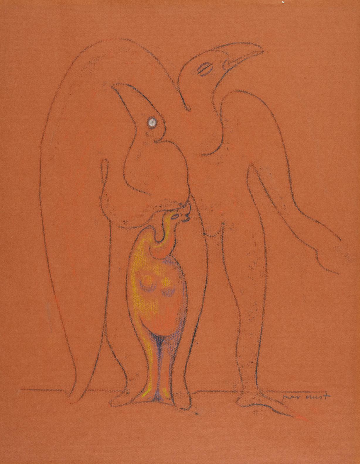 Max Ernst-Le Peuple Des Oiseaux-1942