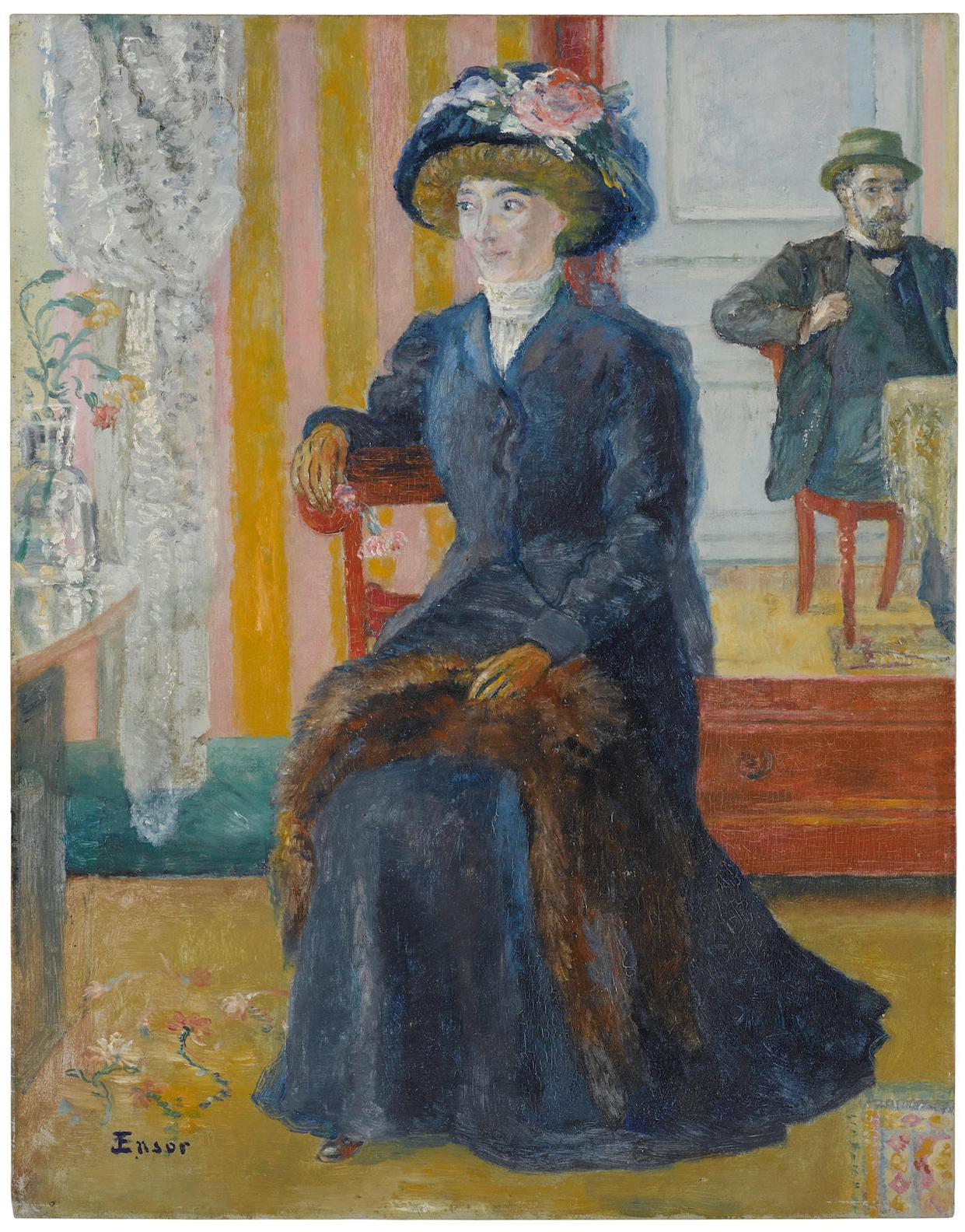 James Ensor-Nos Deux Portraits-1905