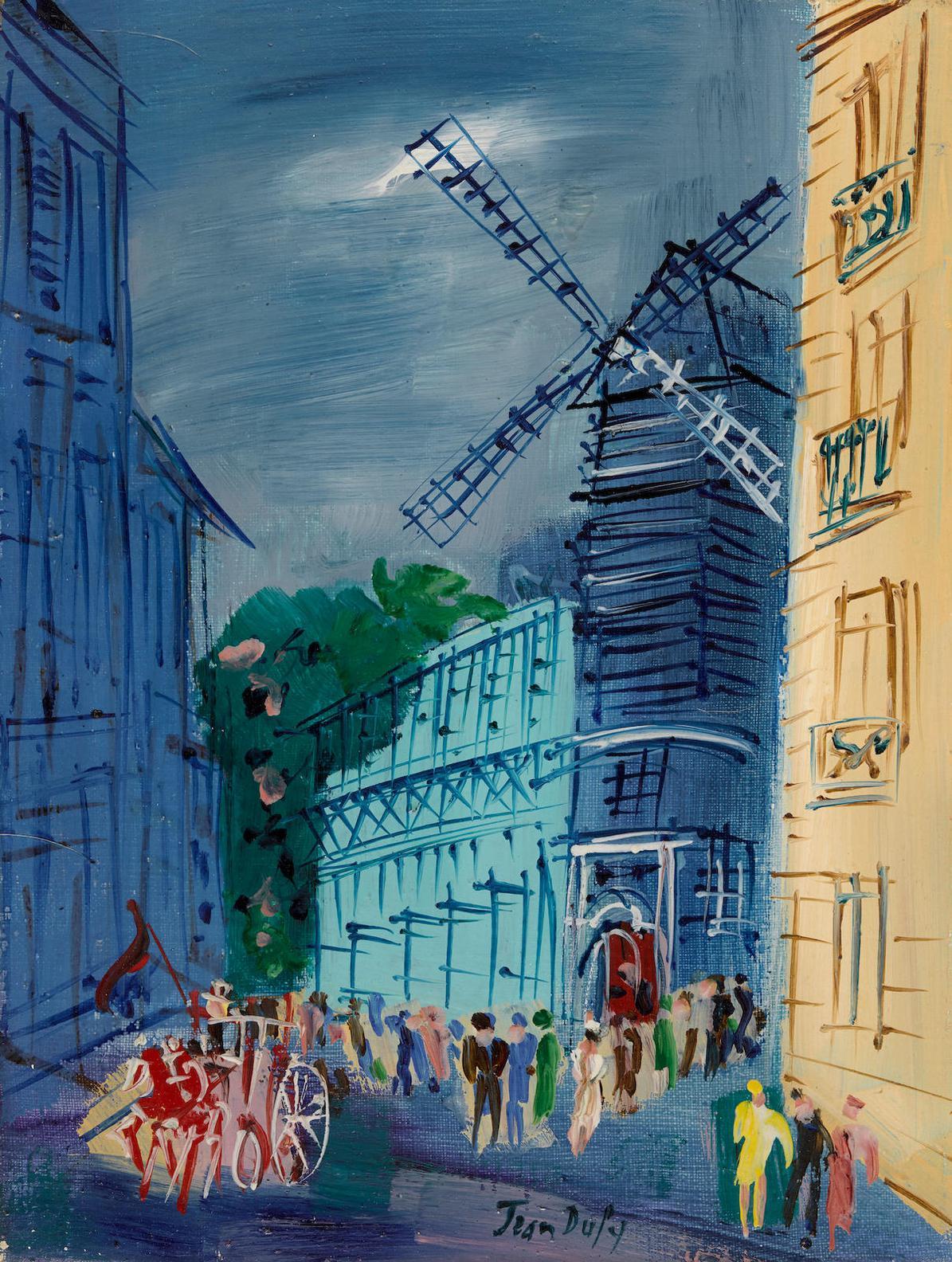 Jean Dufy-Le Moulin De La Galette-