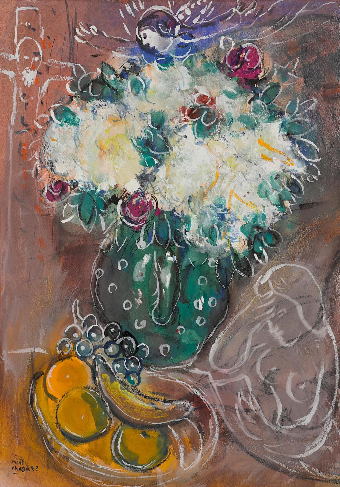 Marc Chagall-Le Bouquet Au Pot Vert-1951