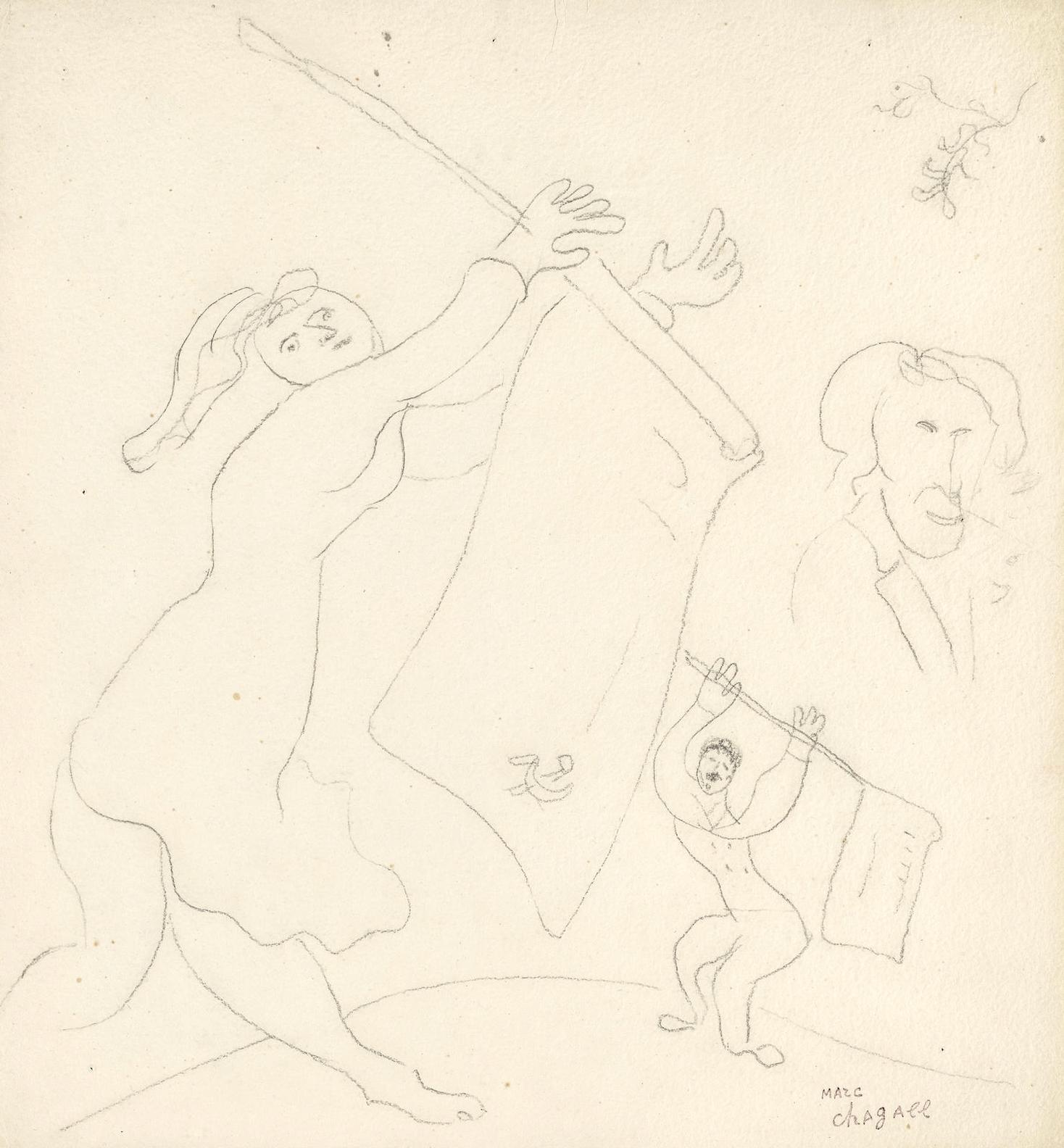 Marc Chagall-La Guerre Des Drapeaux-