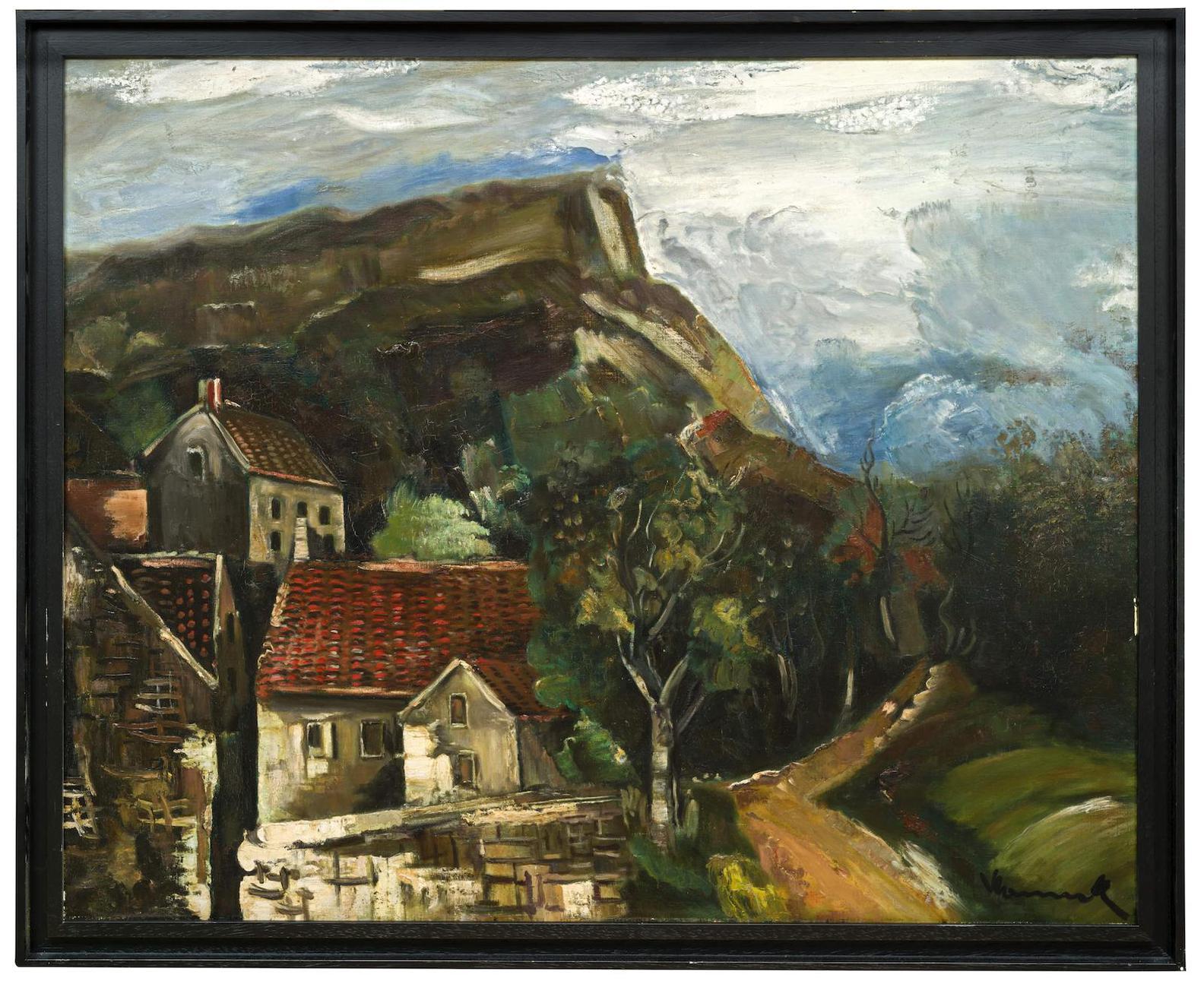Maurice de Vlaminck-Vue De Village-1925