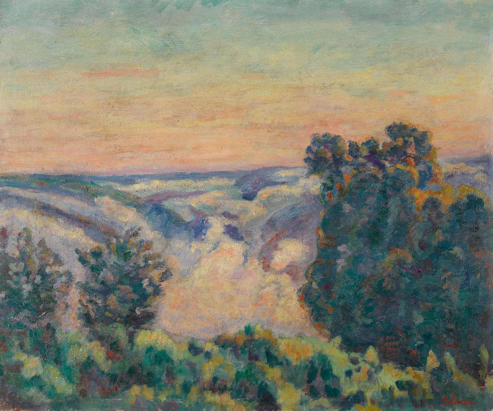 Jean-Baptiste Armand Guillaumin-Soleil Levant Dans Le Brouillard-1919