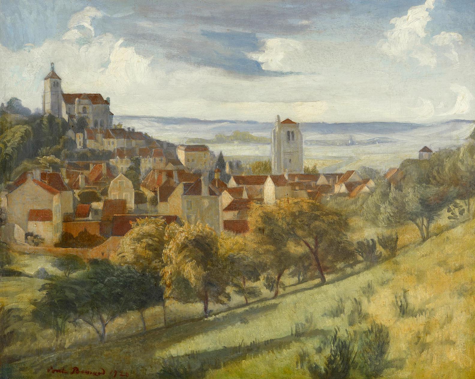Emile Bernard-Paysage De Tonnerre-1920