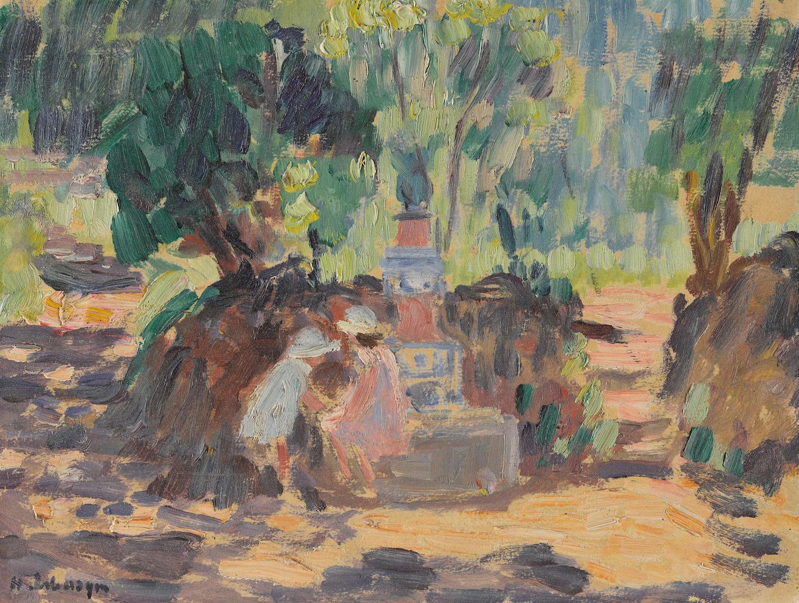 Henri Lebasque-Saint-Tropez, Les Enfants A La Fontaine-1906