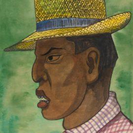Diego Rivera-Hombre Con Sombrero Panama-1947